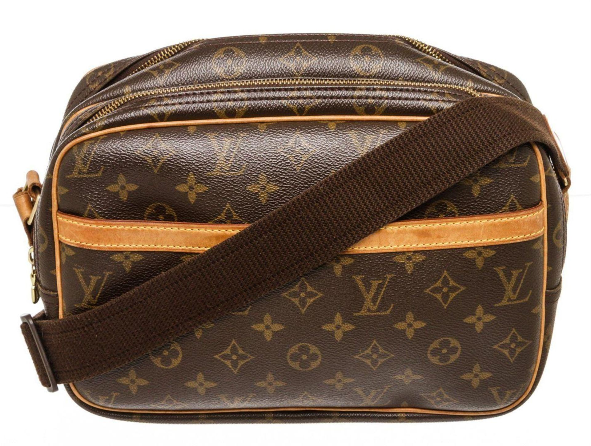 Louis Vuitton Monogram Canvas Leather Saumur 28 Bag