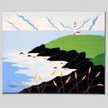 """Fisherman's Lighthouse"" Limited Edition Giclee on Canvas by Larissa Holt, Numbe"