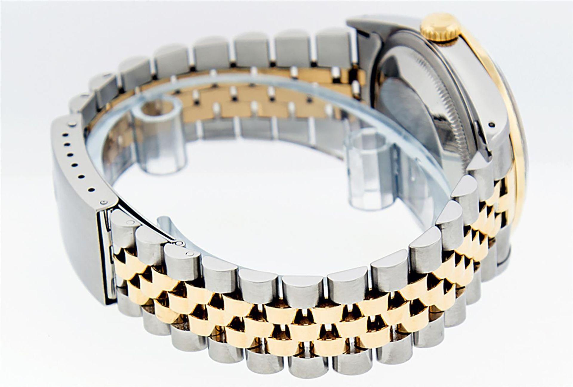 Rolex Mens 2 Tone Blue Vignette Diamond & Sapphire Datejust Wristwatch - Image 6 of 9