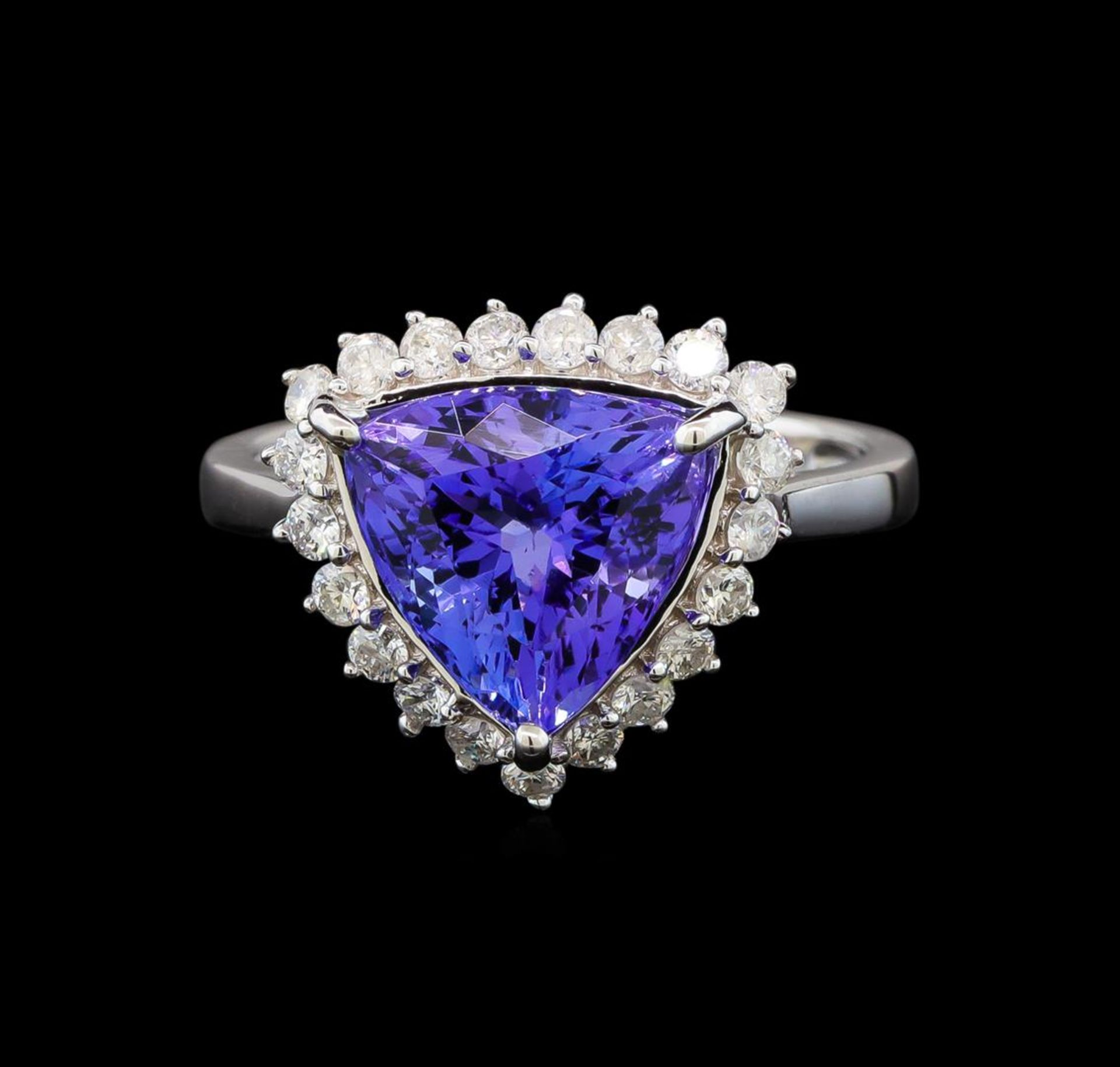 14KT White Gold 2.78 ctw Tanzanite and Diamond Ring - Image 2 of 5