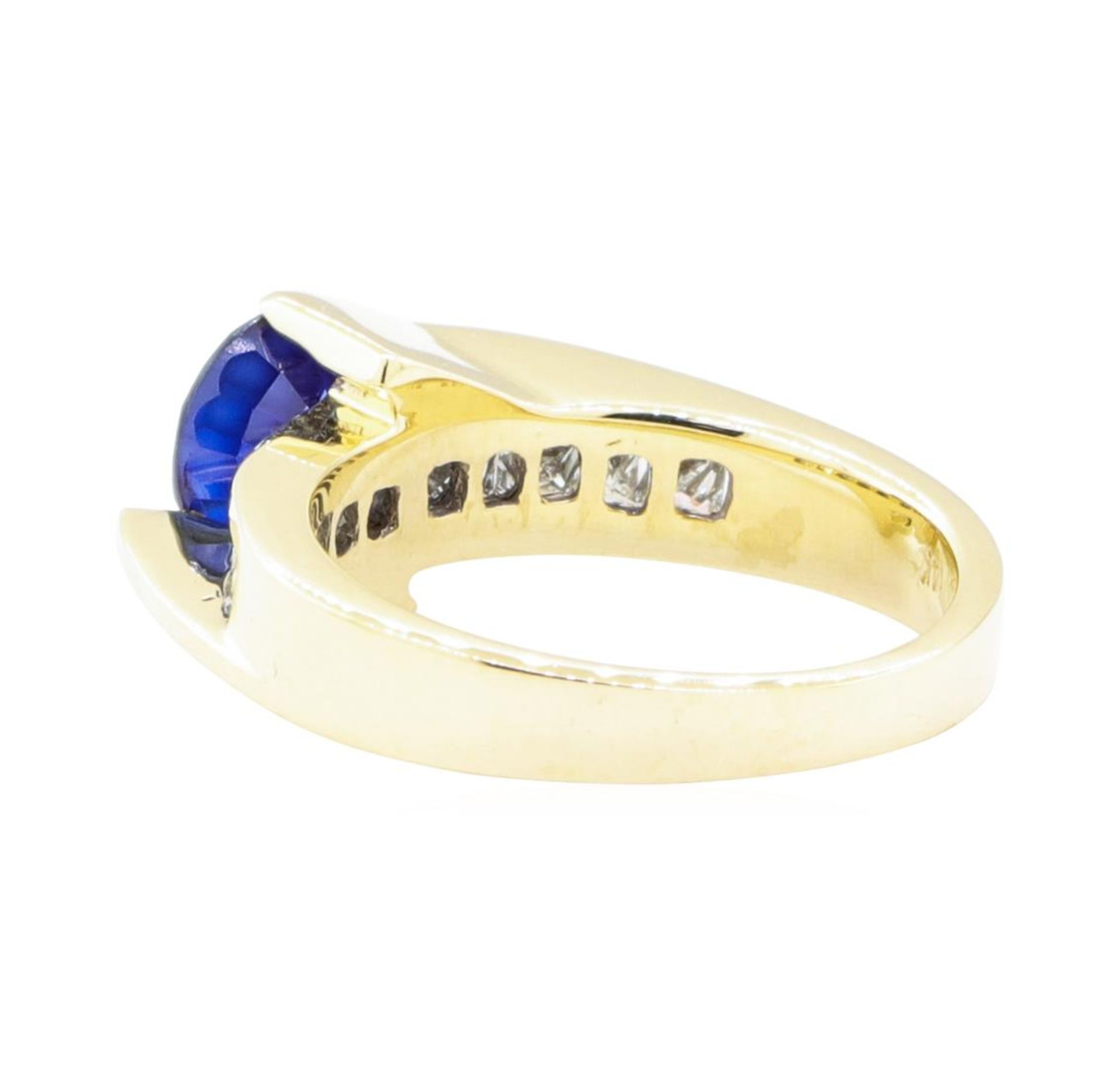 2.14 ctw Sapphire And Diamond Ring - 14KT Yellow Gold - Image 3 of 5