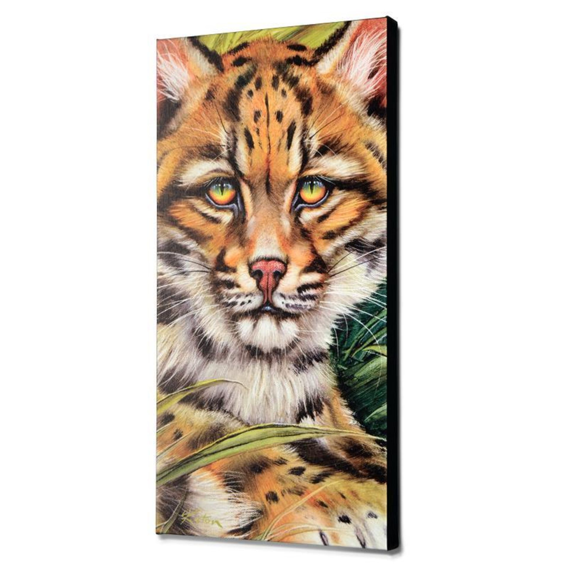 """Ocelot Eyes"" Limited Edition Giclee on Canvas by Martin Katon, Numbered and Han - Image 2 of 2"