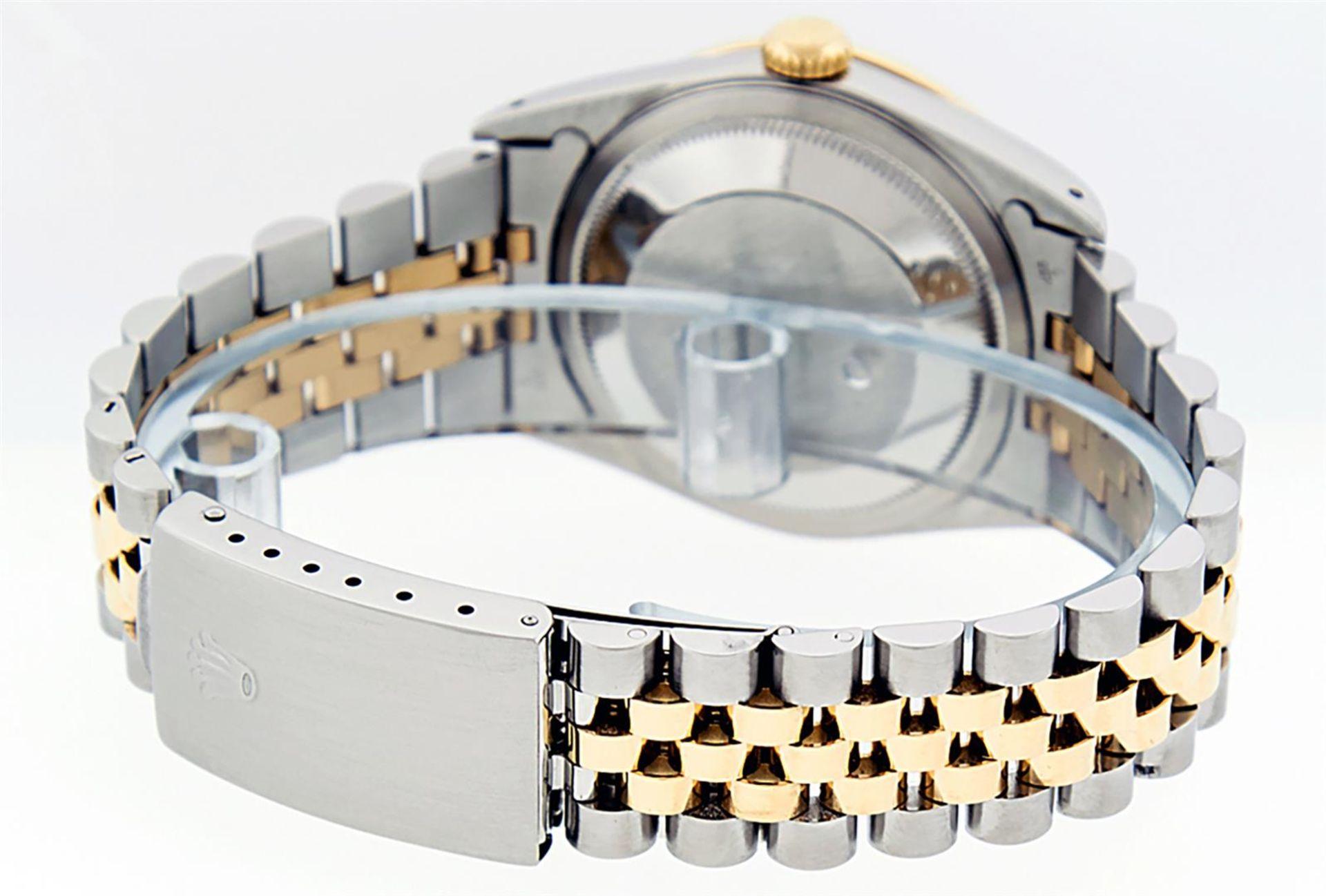 Rolex Mens 2 Tone Blue Vignette Diamond & Sapphire Datejust Wristwatch - Image 7 of 9