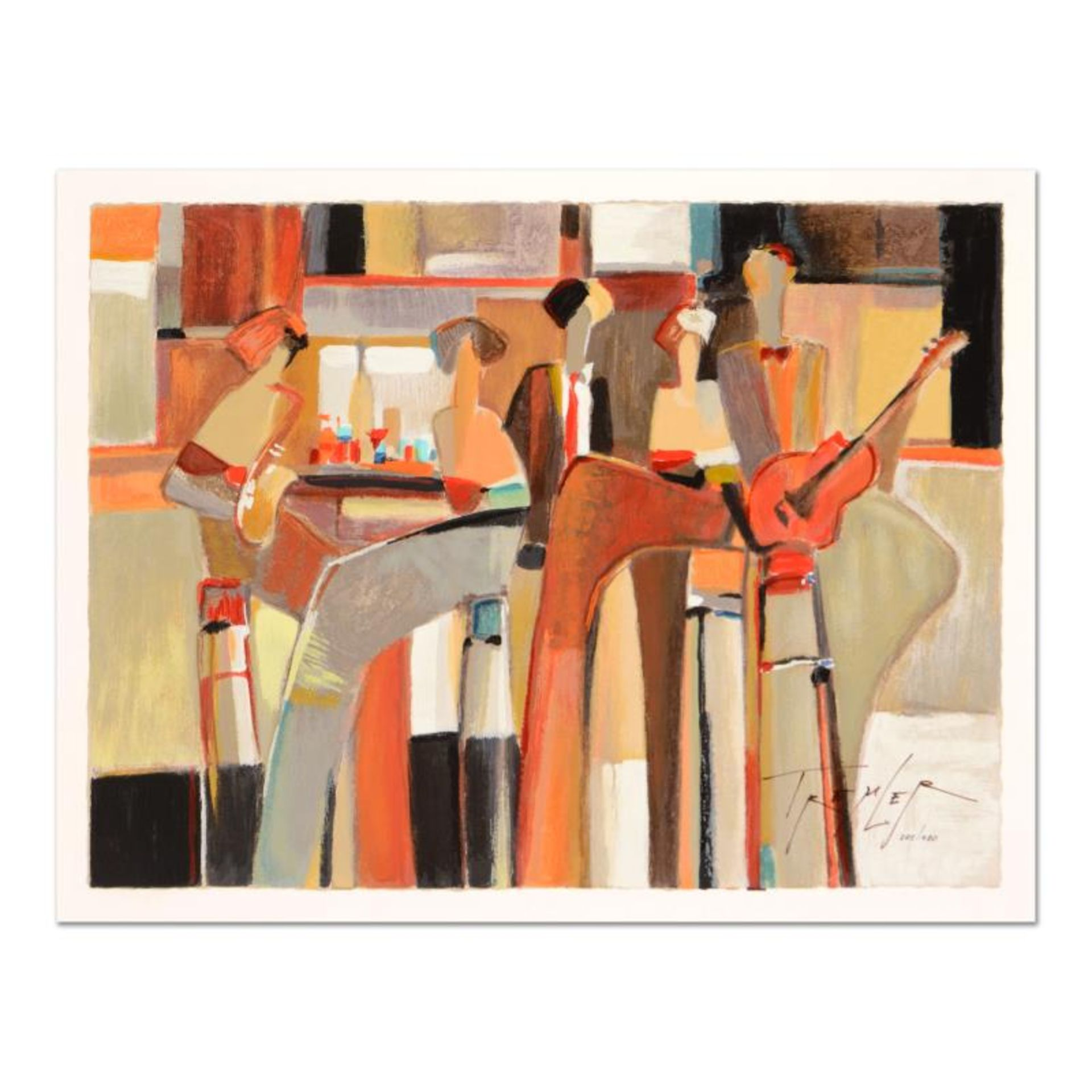 "Yuri Tremler, ""Music at the Bar "" Limited Edition Serigraph by Yuri Tremler, Han"