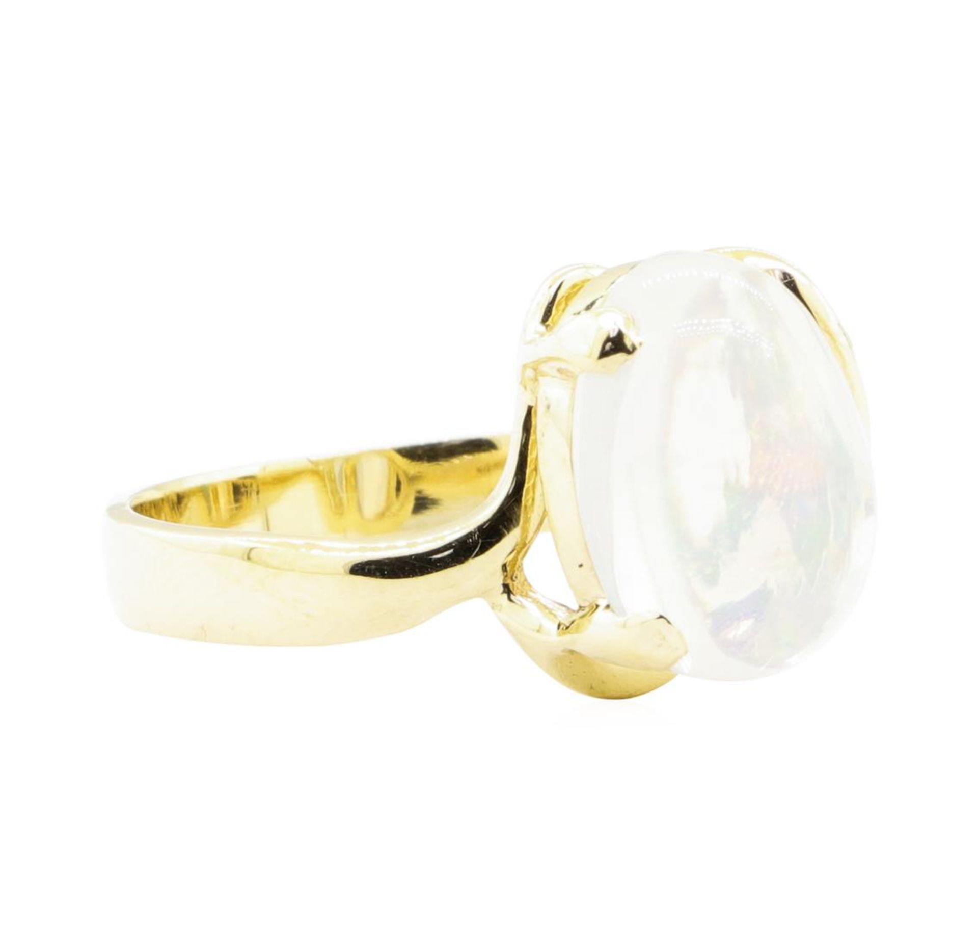 6.88 ctw Opal and Diamond Ring - 14KT Yellow Gold