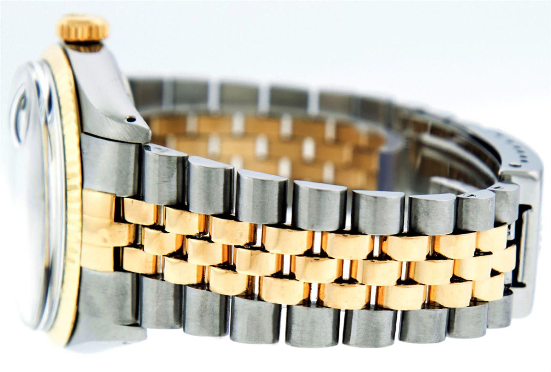 Rolex Mens 2 Tone MOP Diamond 36MM Datejust Wristwatch - Image 6 of 7