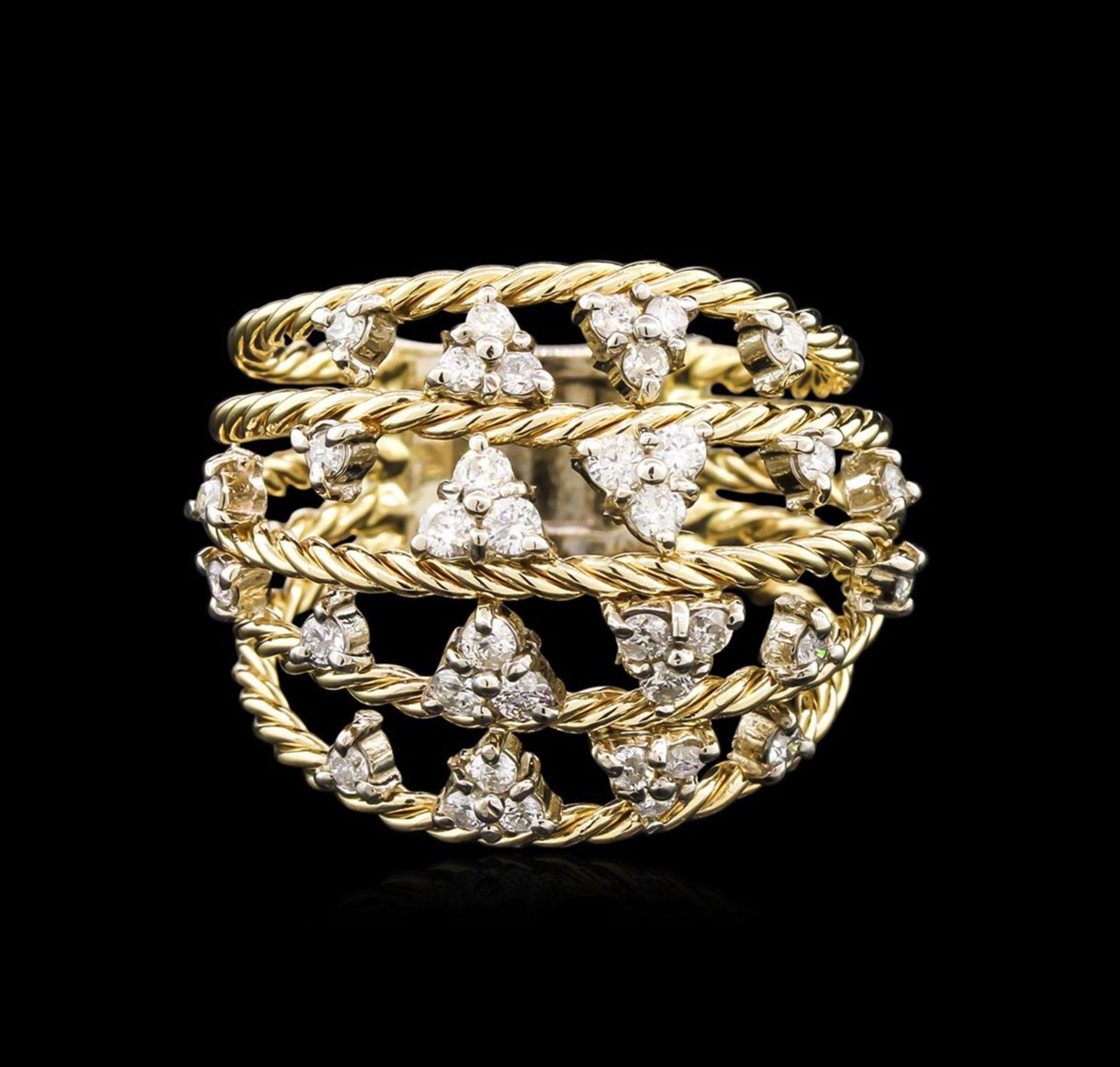 0.60 ctw Diamond Ring - 14KT Yellow Gold - Image 2 of 2