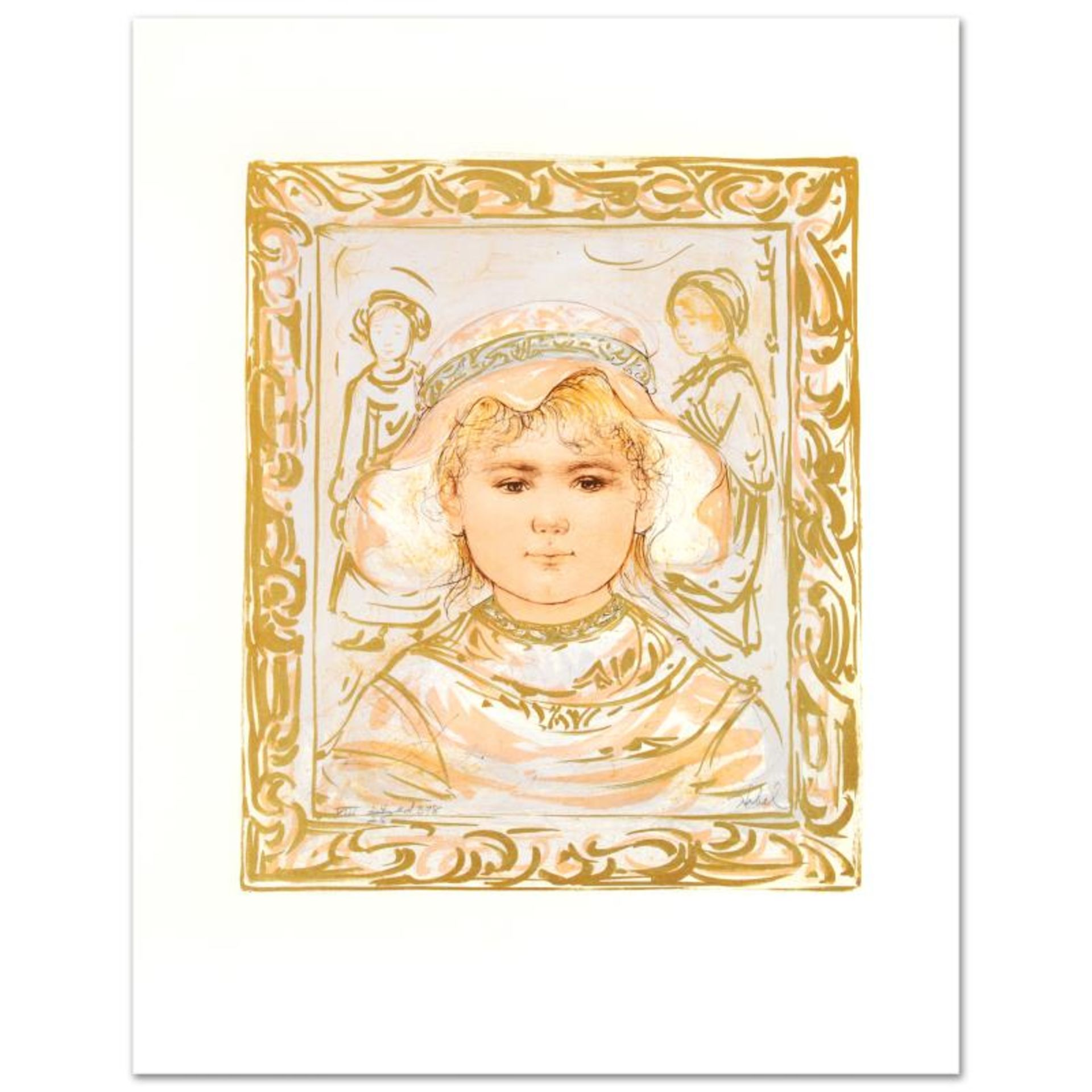 """""""Martha"""" Limited Edition Lithograph by Edna Hibel (1917-2014), Numbered and Hand"""