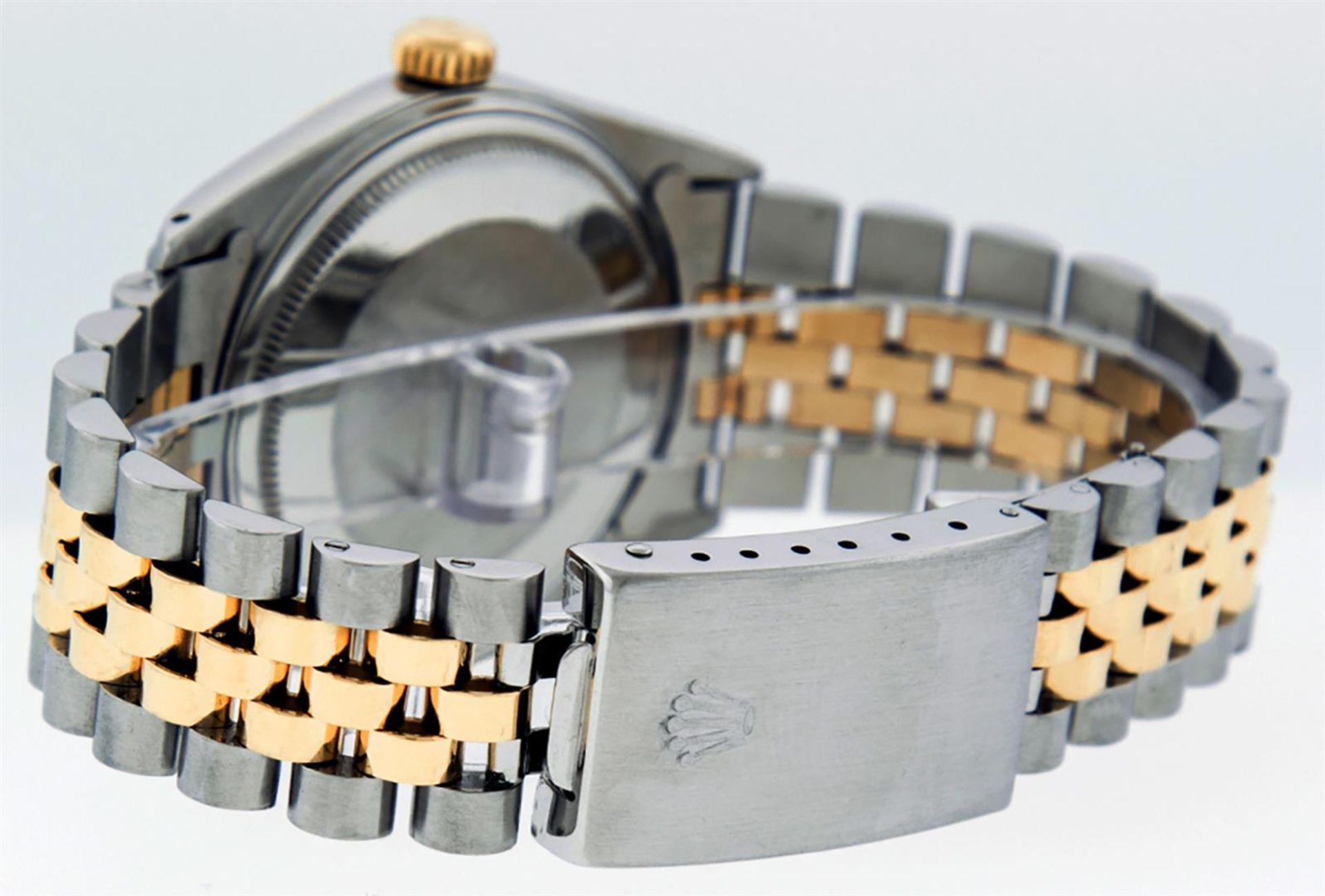 Rolex Mens 2 Tone MOP Diamond 36MM Datejust Wristwatch - Image 5 of 7