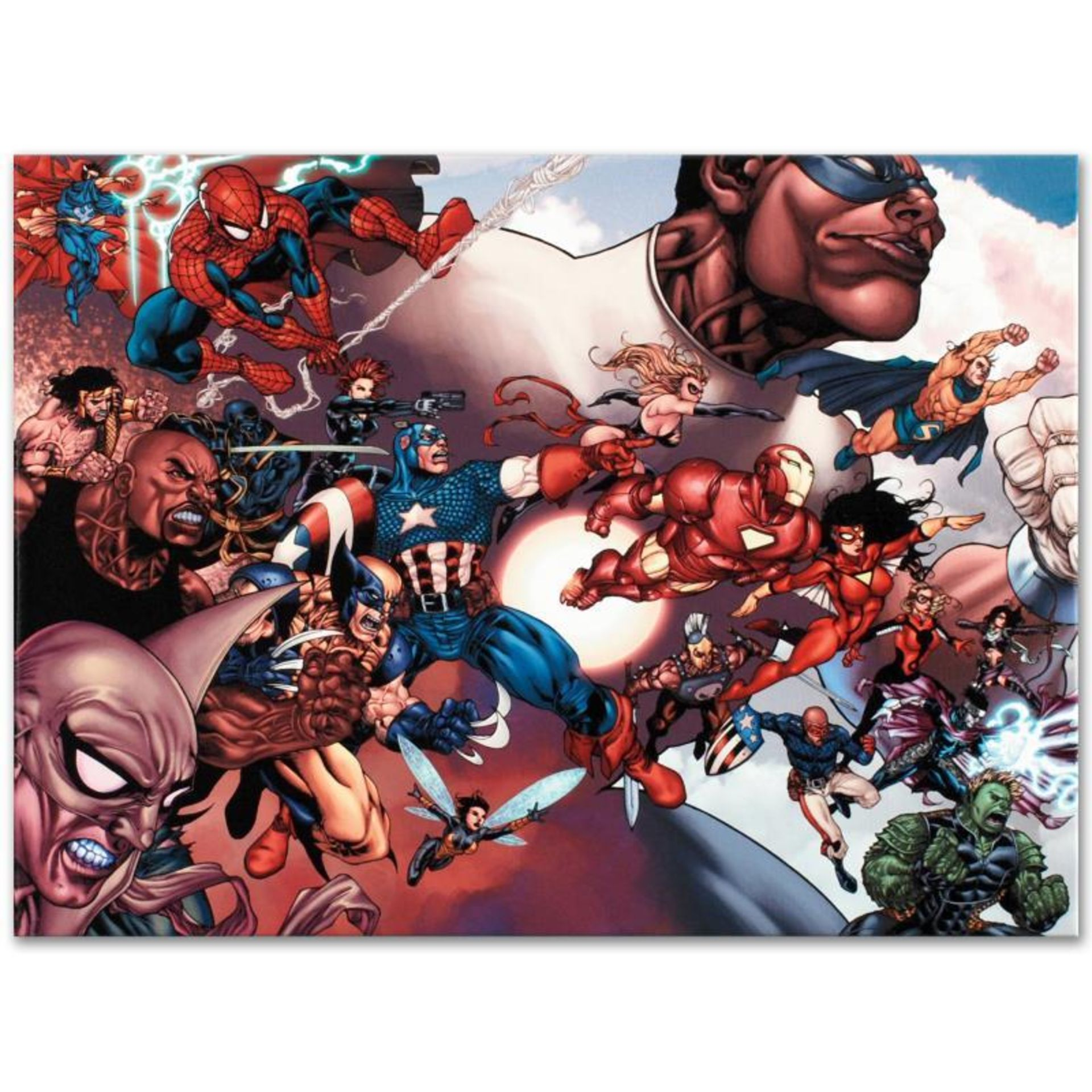 """Marvel Comics """"What If? Civil War #1"""" Numbered Limited Edition Giclee on Canvas"""