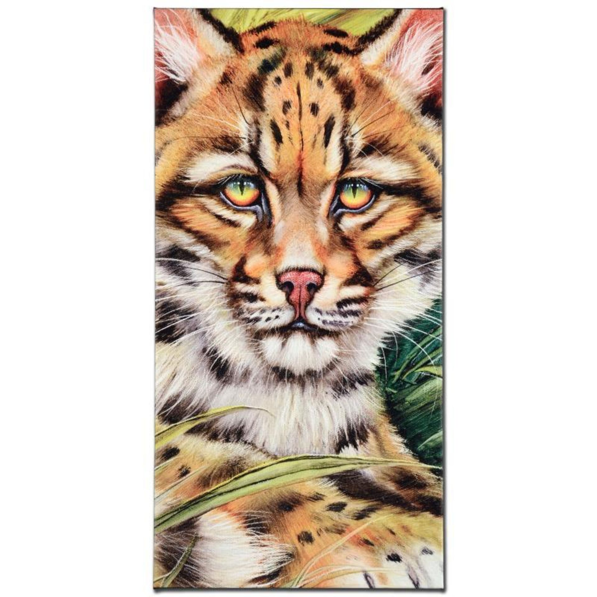 """Ocelot Eyes"" Limited Edition Giclee on Canvas by Martin Katon, Numbered and Han"