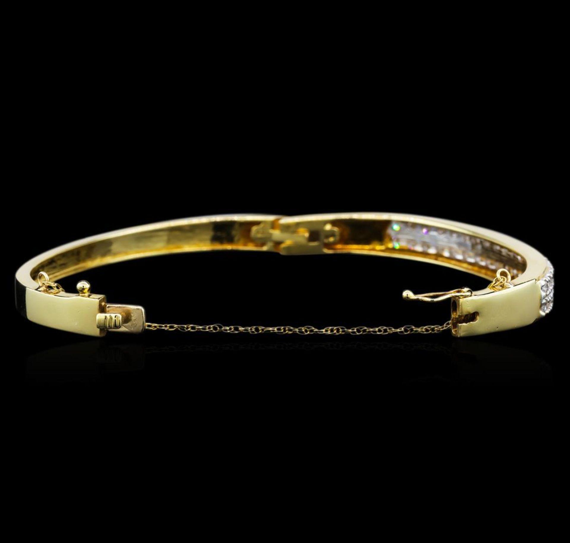 14KT Yellow Gold 2.28 ctw Diamond Bracelet - Image 3 of 4