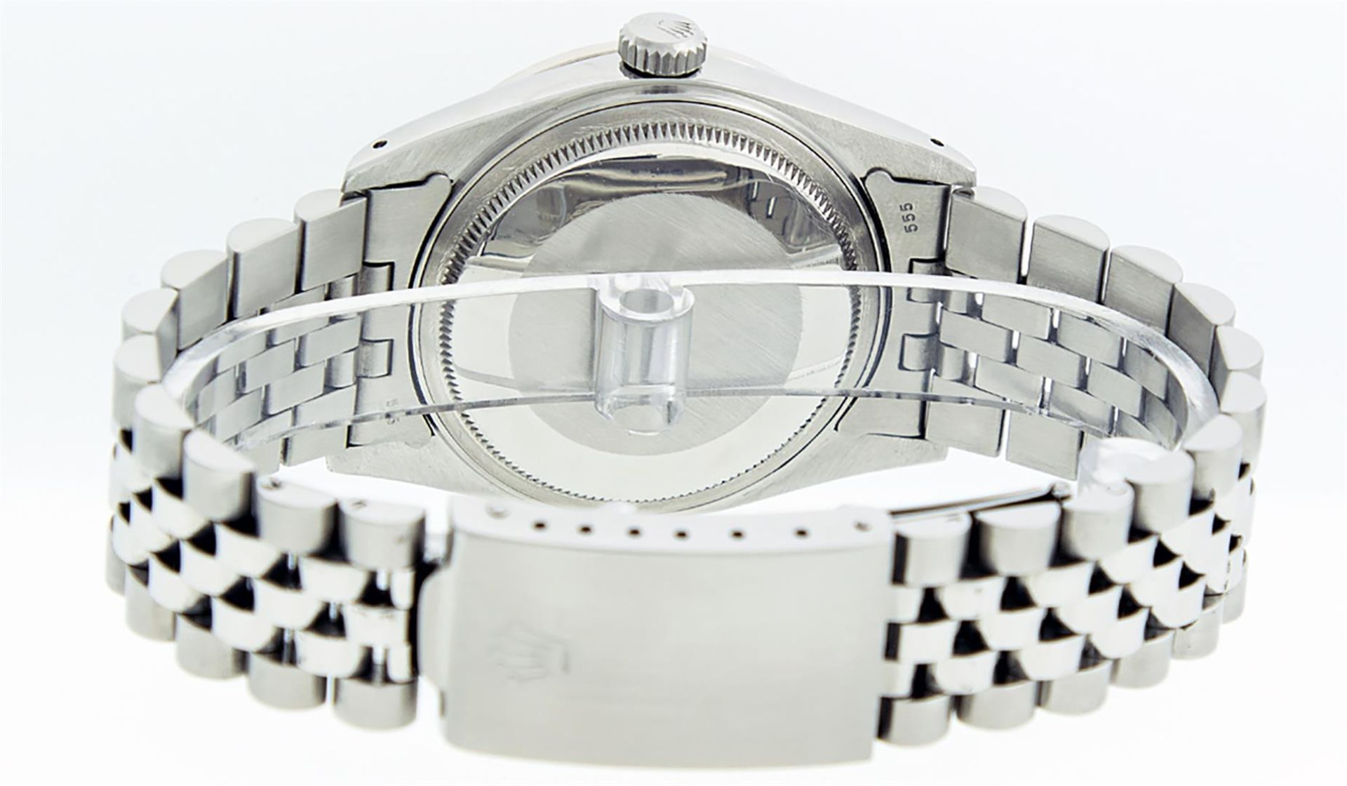 Rolex Mens Stainless Steel Meteorite Diamond And Ruby Datejust Wristwatch 36MM - Image 2 of 9