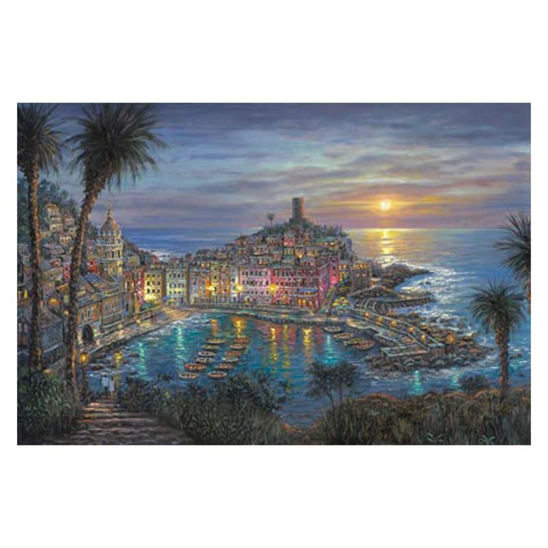 "Robert Finale, ""Vernazza Sunset"" Hand Signed, Artist Embellished Limited Edition"