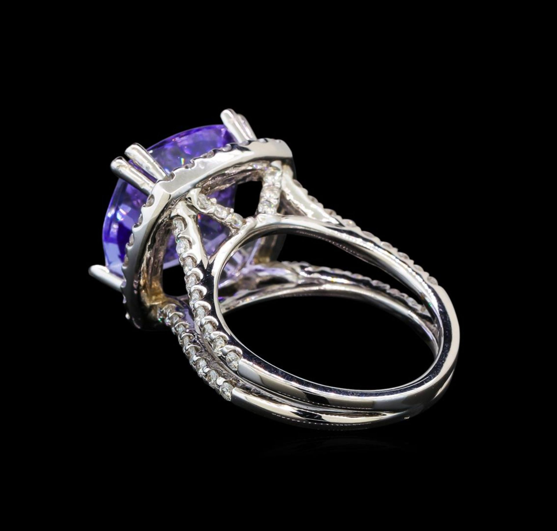 14KT White Gold 9.07 ctw Tanzanite and Diamond Ring - Image 3 of 5