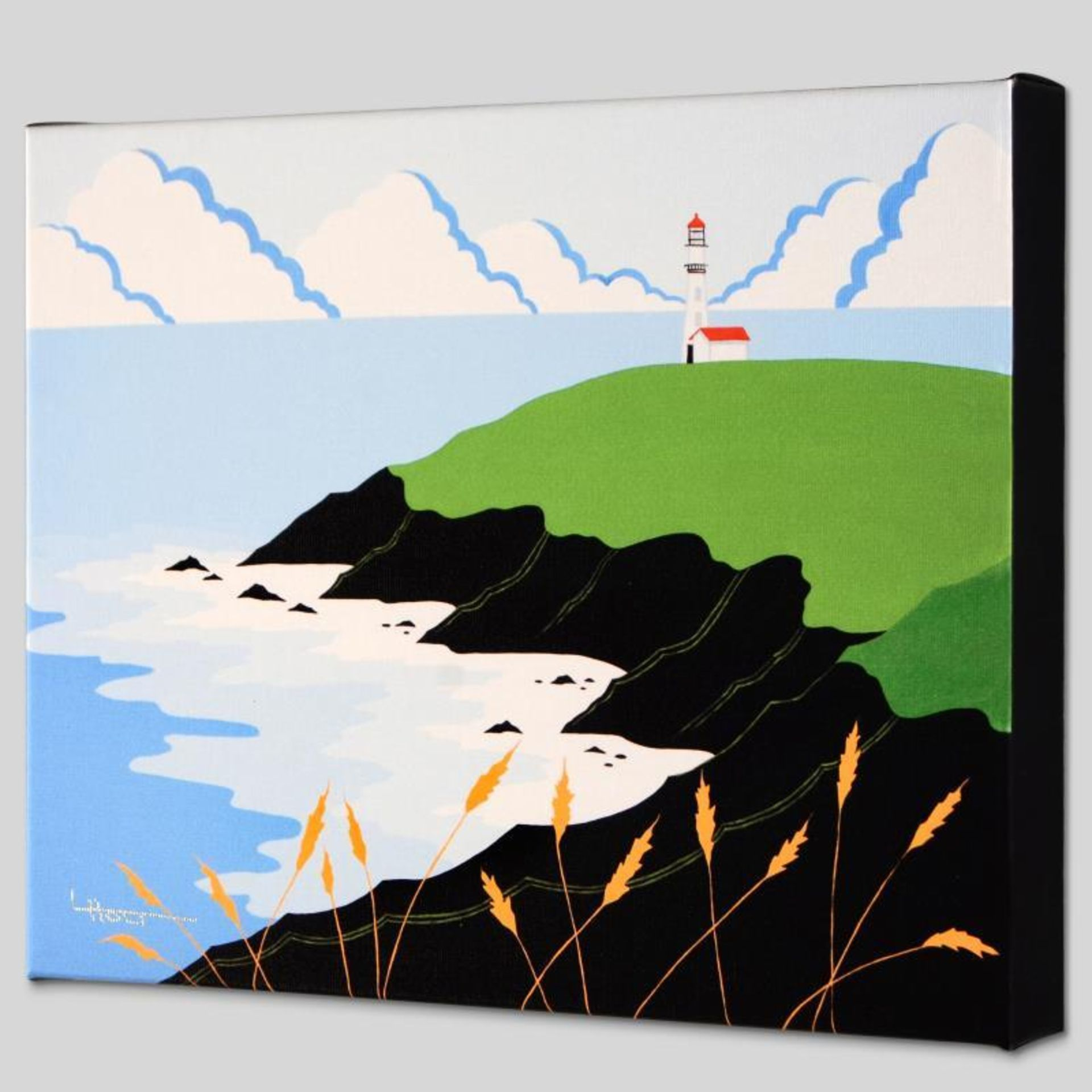 """Fisherman's Lighthouse"" Limited Edition Giclee on Canvas by Larissa Holt, Numbe - Image 2 of 2"