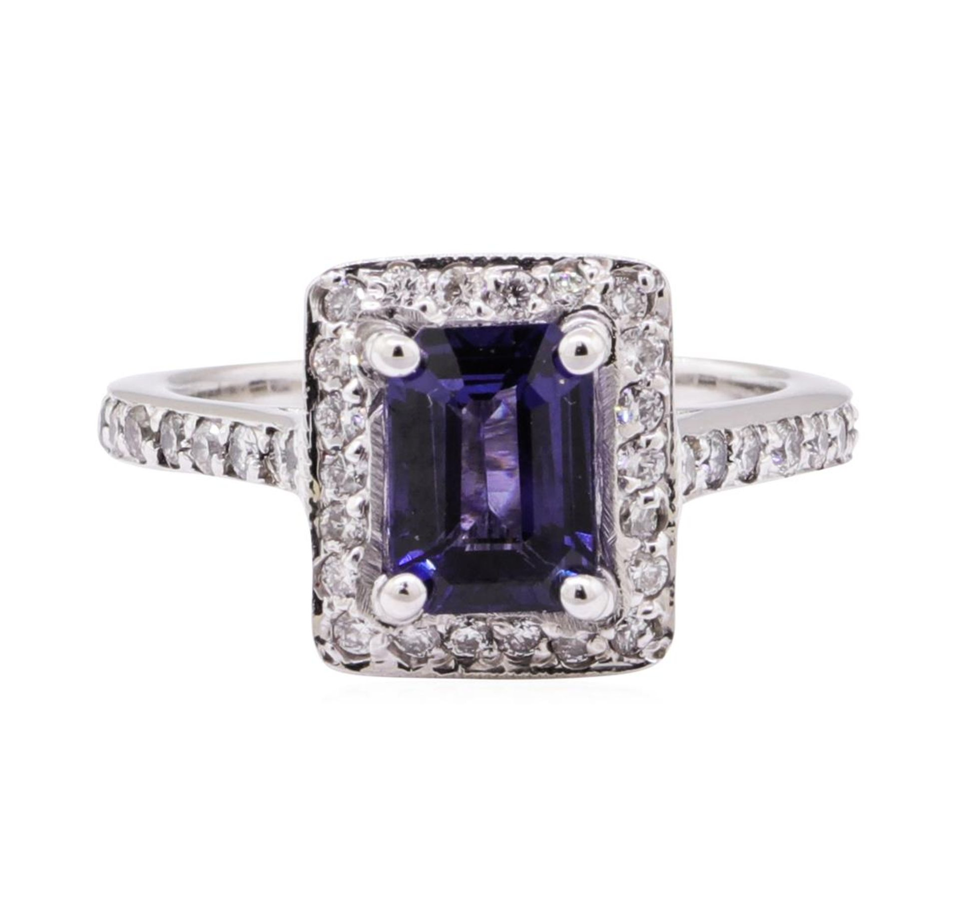 2.21 ctw Blue Sapphire And Diamond Ring - 14KT White Gold - Image 2 of 5