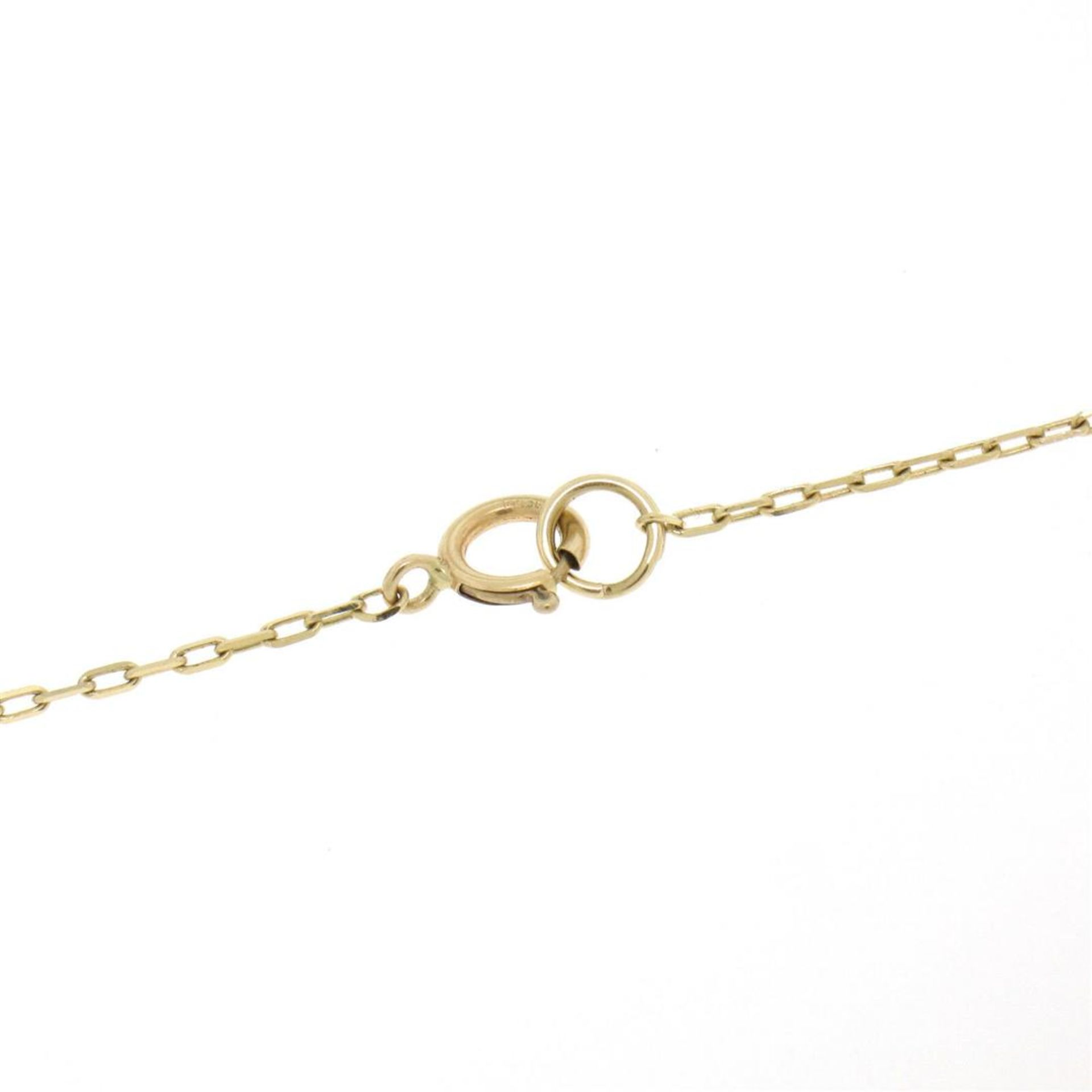 18kt Yellow Gold 10.45mm Pearl and Diamond Solitaire Pendant Necklace - Image 5 of 5