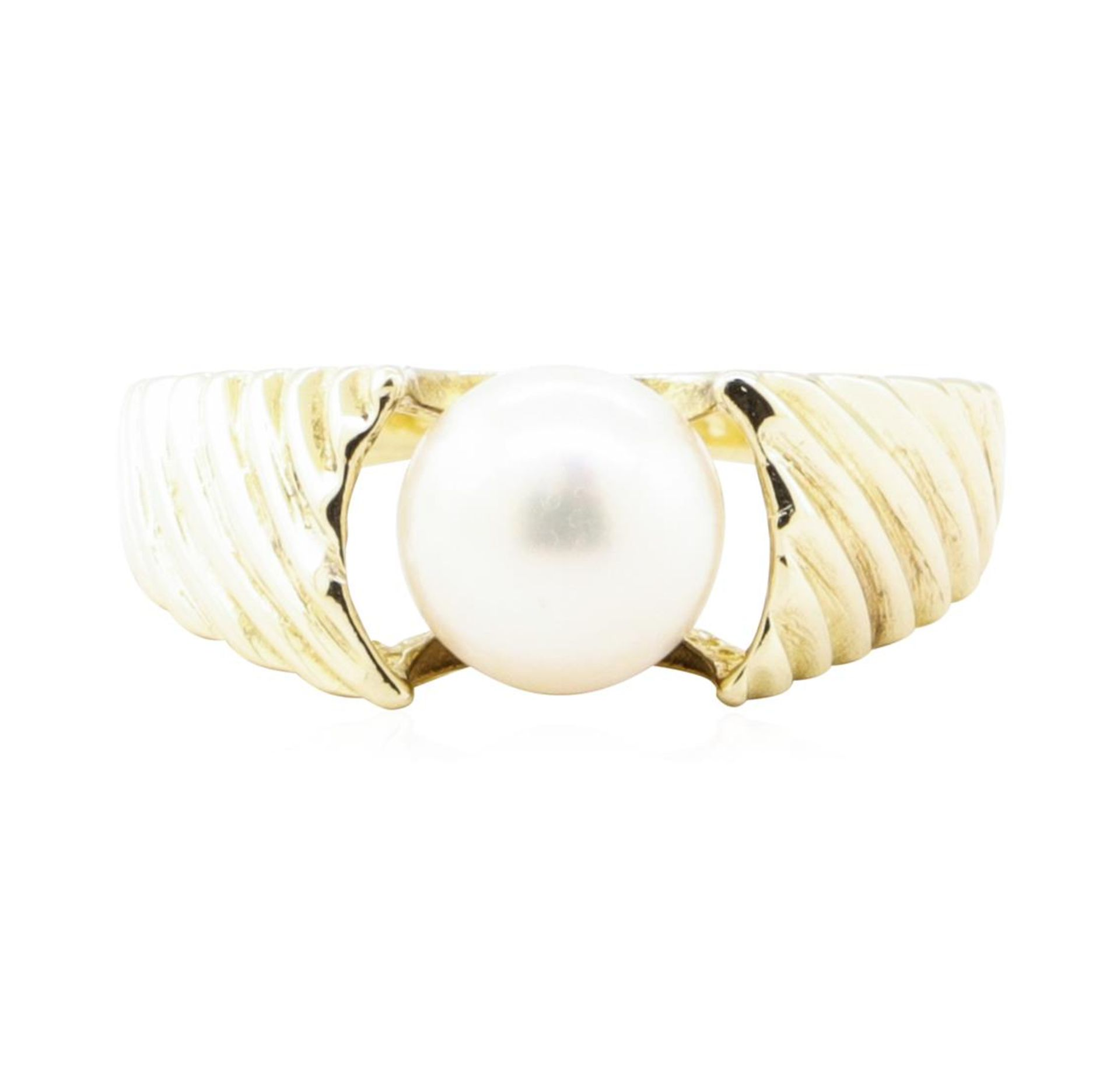 7mm Cultured Pearl Ring - 14KT Yellow Gold - Image 2 of 4