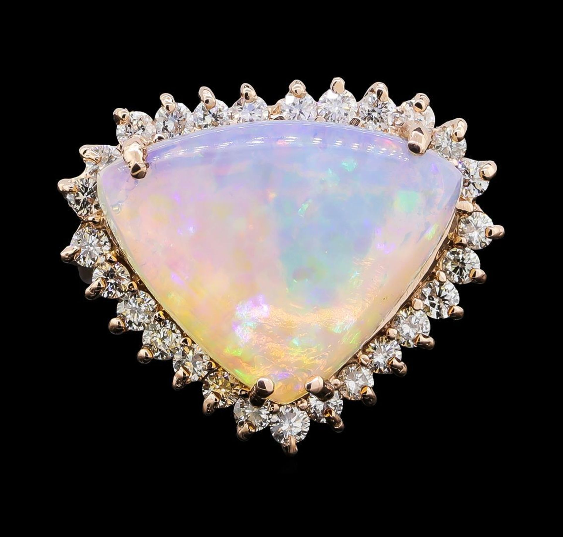 7.51 ctw Opal and Diamond Ring - 14KT Rose Gold - Image 2 of 5