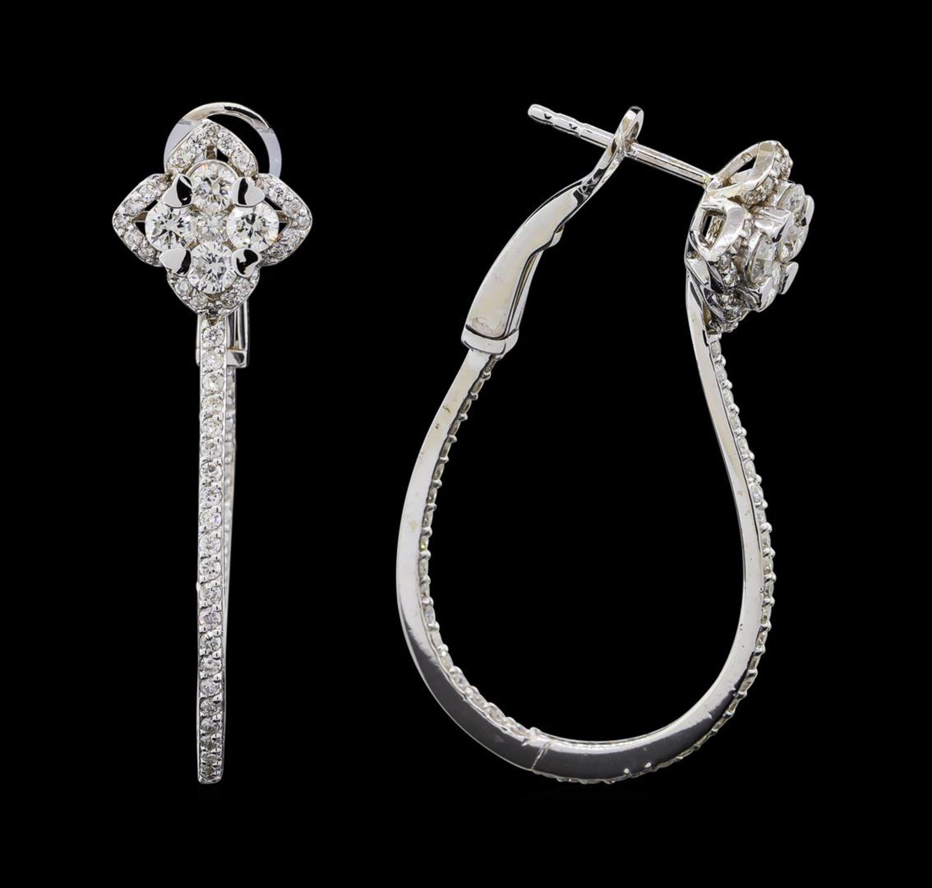 1.72 ctw Diamond Earrings - 14KT White Gold - Image 2 of 4