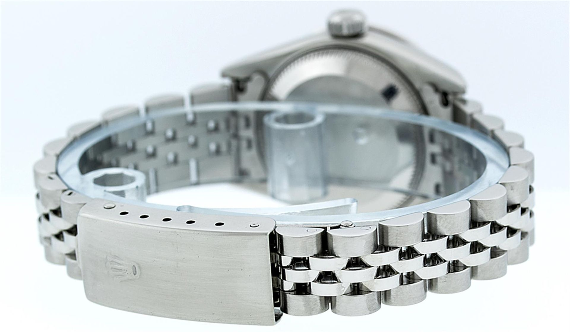 Rolex Ladies Stainless Steel Quickset Pink String Diamond Lugs Datejust Wristwat - Image 9 of 9