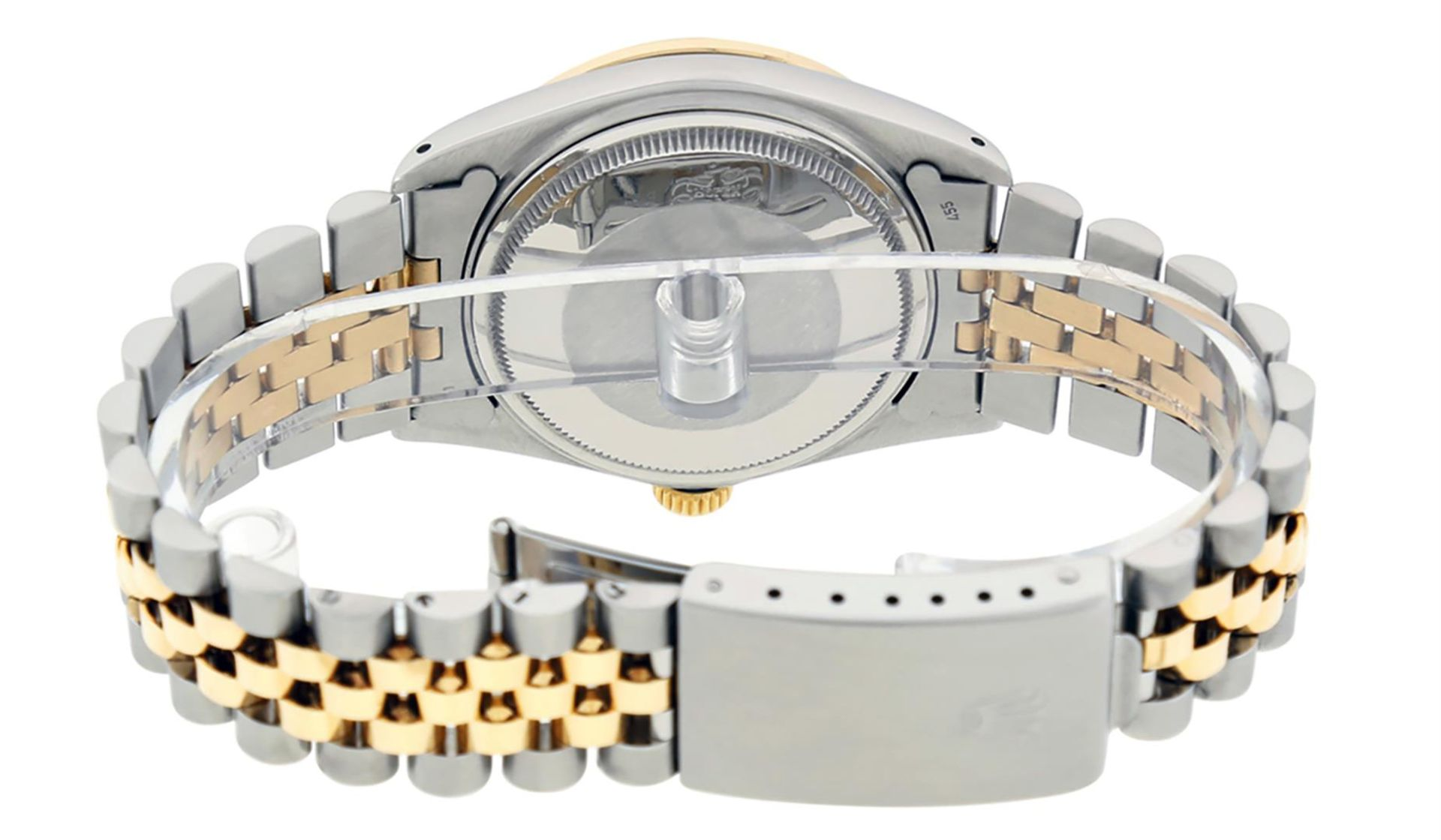 Rolex Mens 2 Tone Champagne Diamond 36MM Datejust Wriswatch - Image 6 of 9