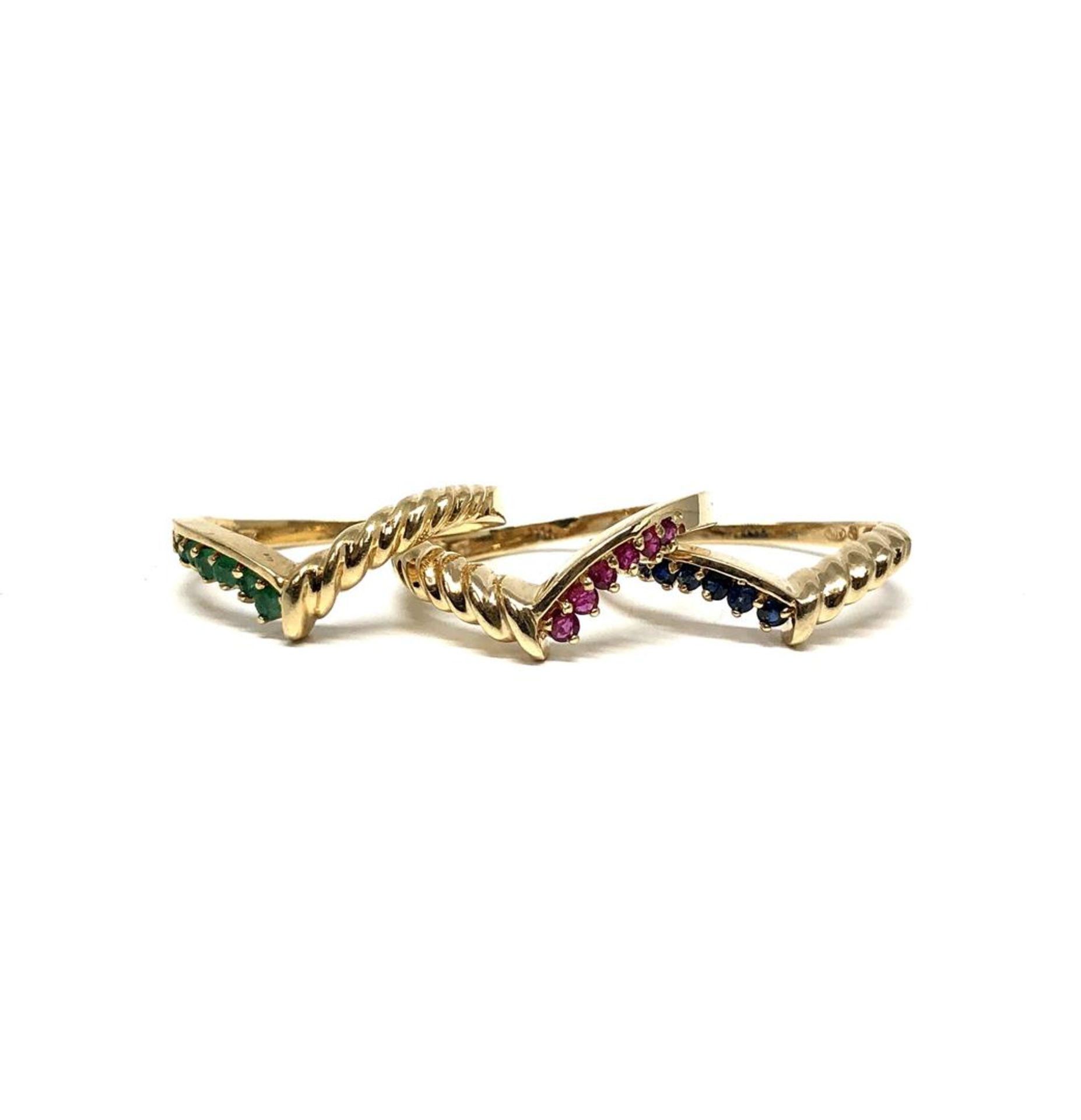 0.69 ctw Round Brilliant Emerald Rings - 14KT Yellow Gold - Image 4 of 4