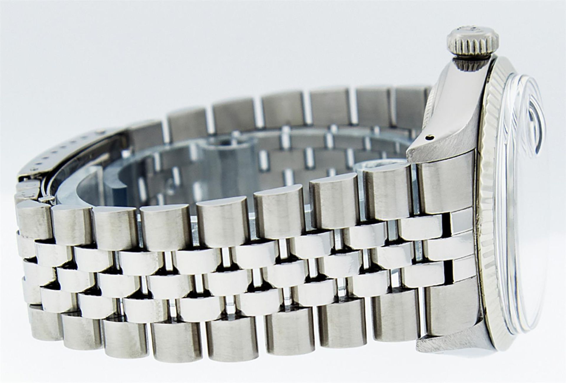 Rolex Mens Stainless Steel 36MM Blue Diamond Datejust Wristwatch - Image 4 of 9