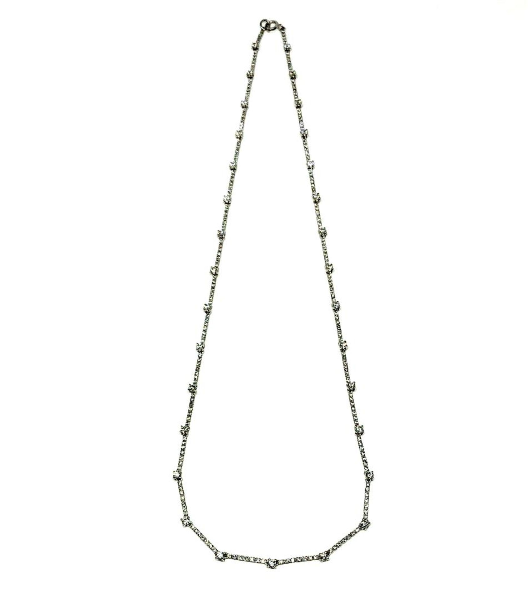 2.20 ctw Diamond Necklace - 18KT White Gold