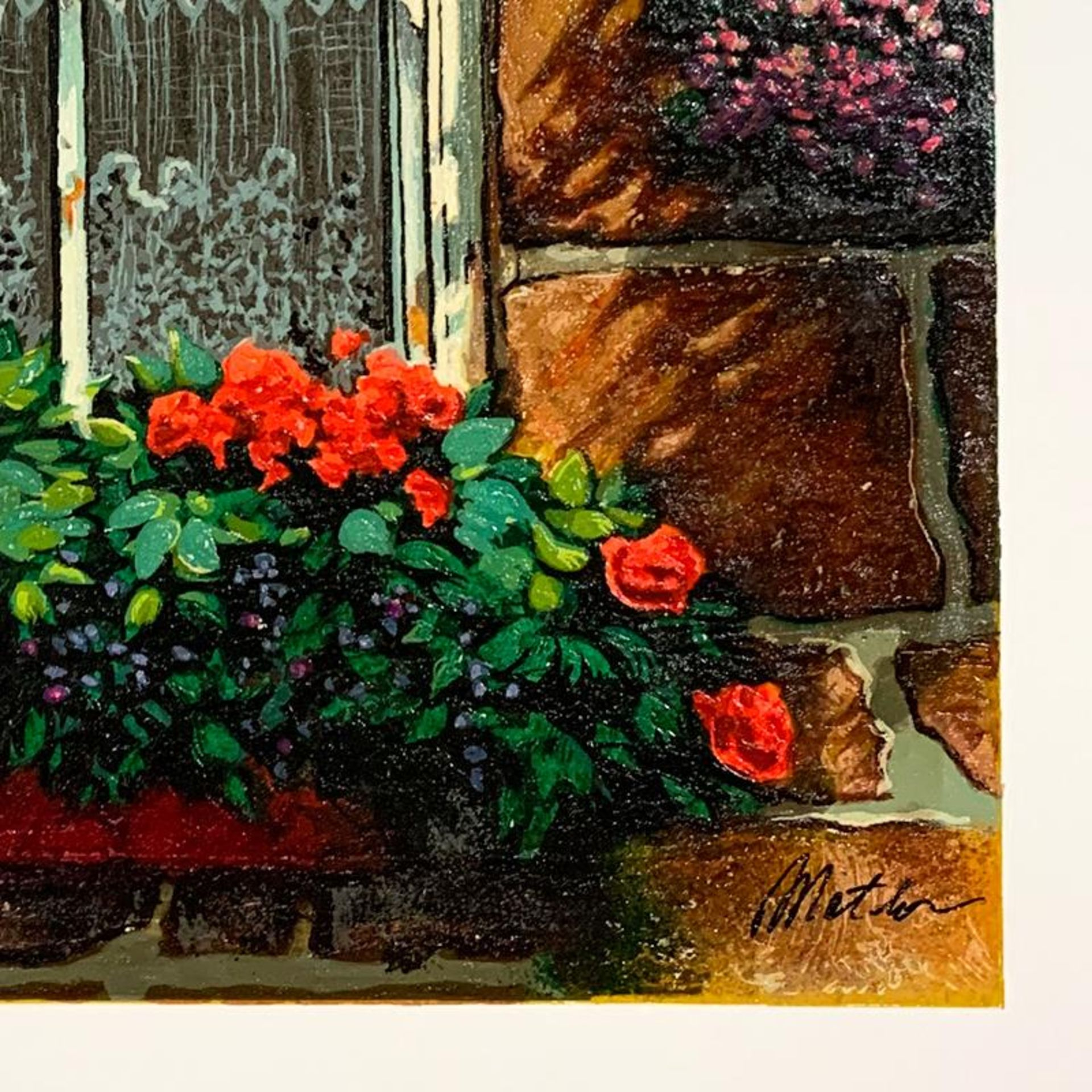 """Anatoly Metlan, """"Beyond Our Window"""" Hand Signed Limited Edition Serigraph on Pap - Image 2 of 2"""