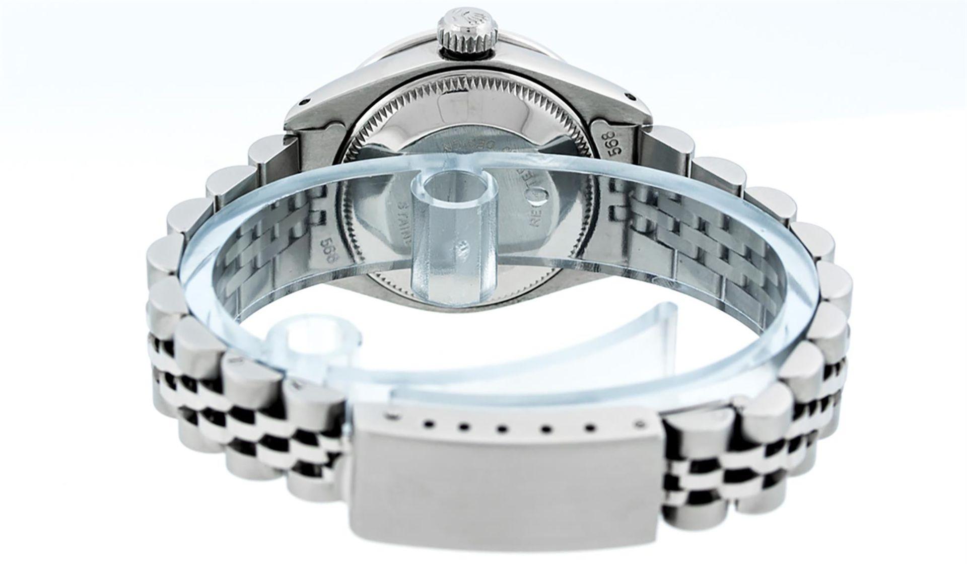 Rolex Ladies Stainless Steel Yellow MOP Emerald & Diamond Datejust Wristwatch - Image 6 of 7