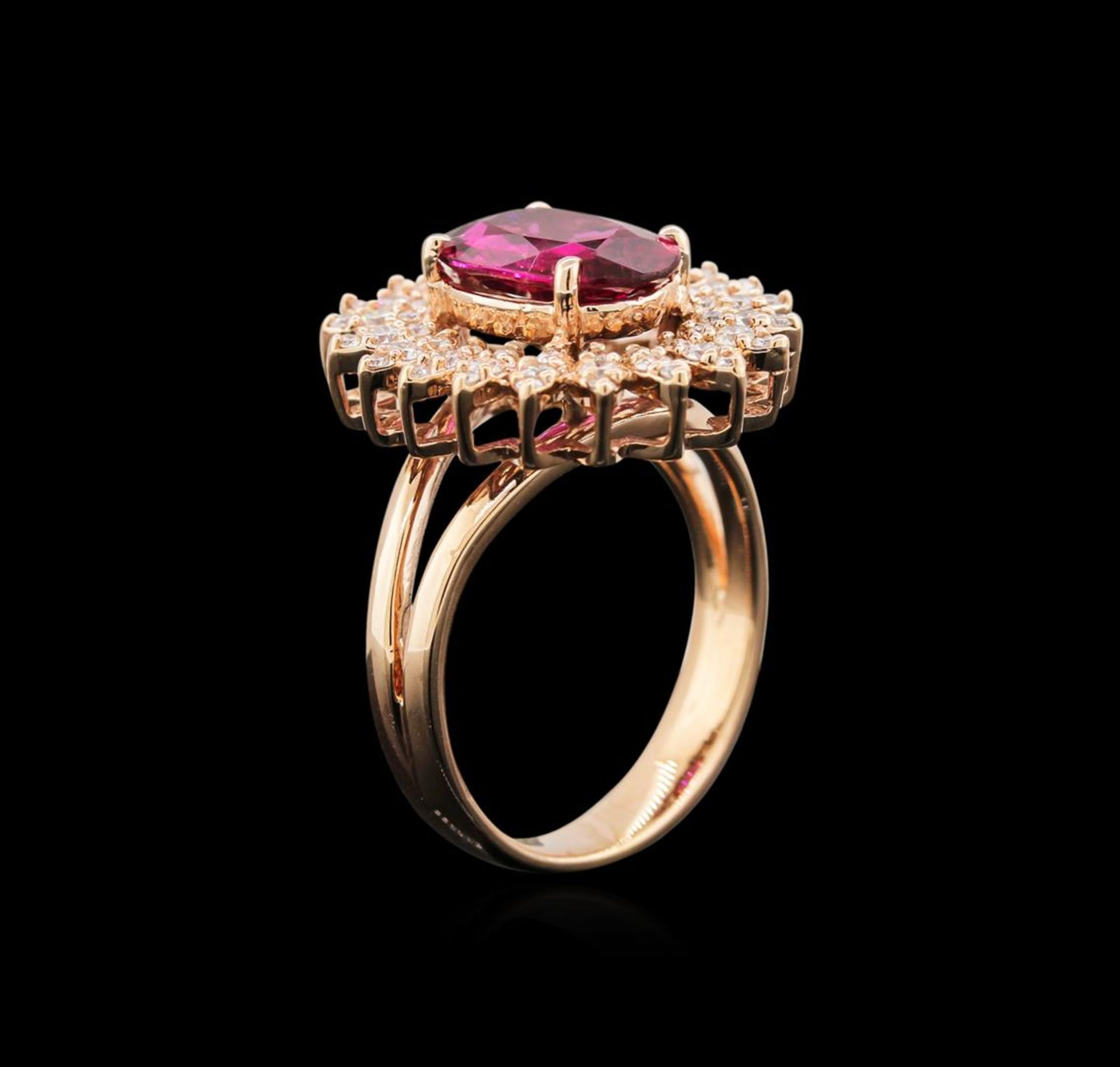 1.99 ctw Ruby and Diamond Ring - 14KT Rose Gold - Image 3 of 3