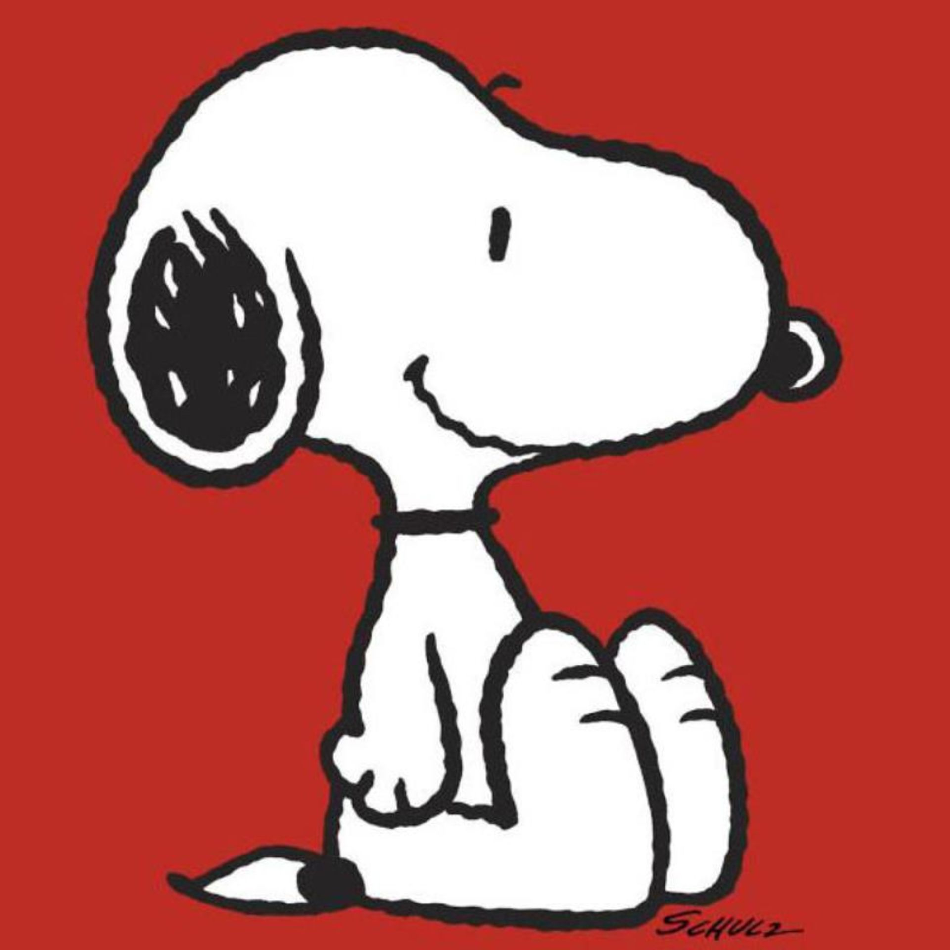 "Peanuts, ""Snoopy: Red"" Hand Numbered Canvas (40""x44"") Limited Edition Fine Art P - Image 2 of 2"