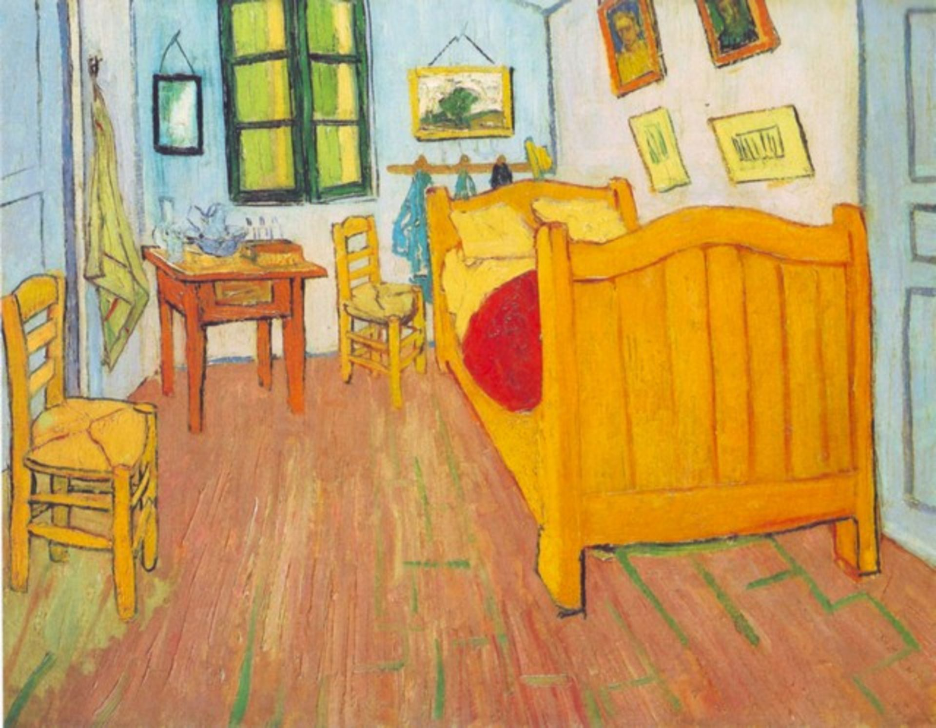 Van Gogh - The Bedroom In Arles. Saint-Remy