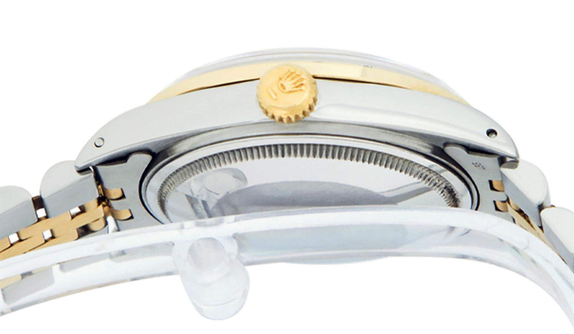 Rolex Mens 2 Tone Champagne Diamond 36MM Datejust Wriswatch - Image 9 of 9