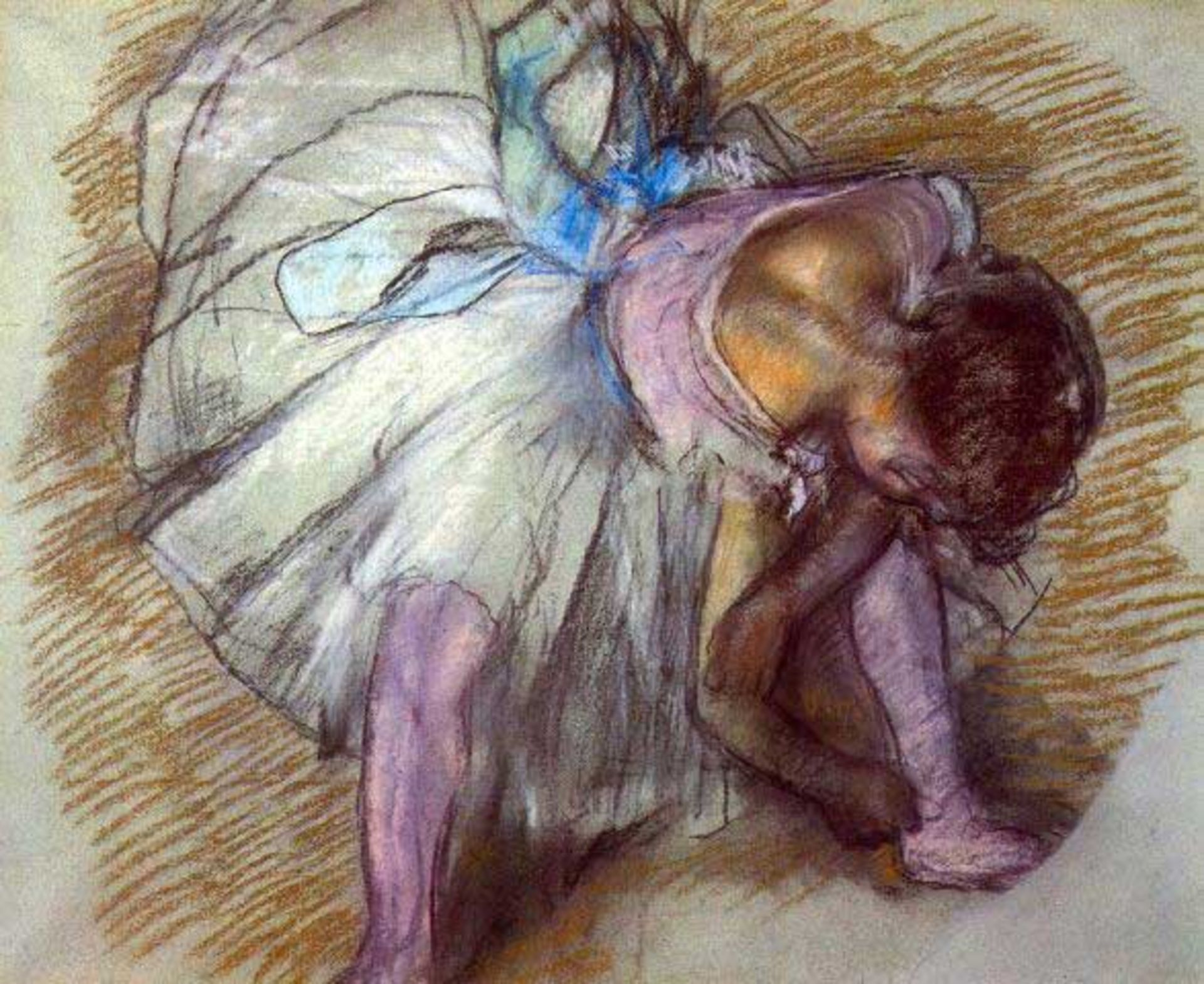 Edgar Degas - Sitting Dancer Lacing Her Slipper
