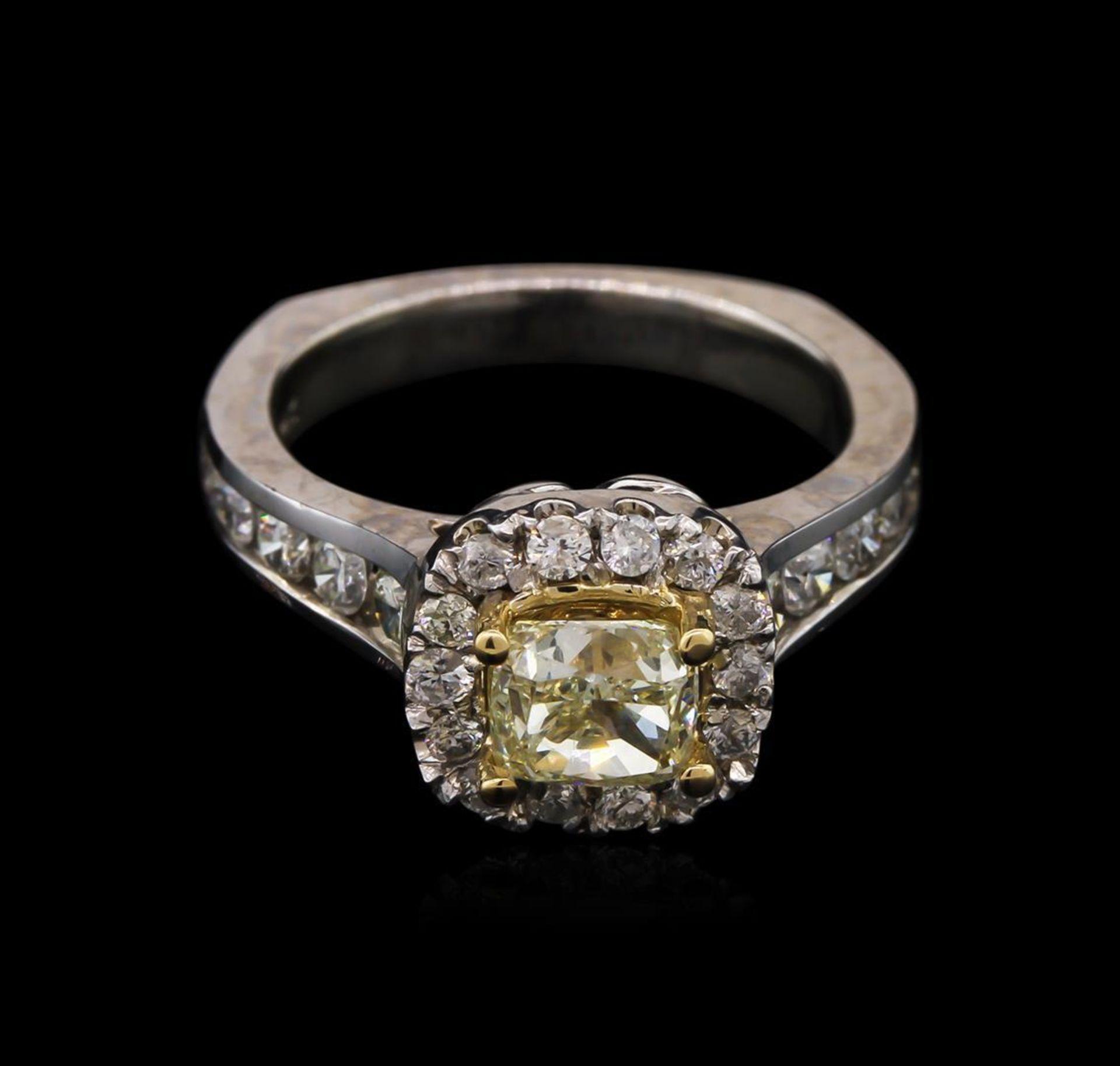 2.07 ctw Light Yellow Diamond Ring - 14KT White Gold - Image 2 of 3