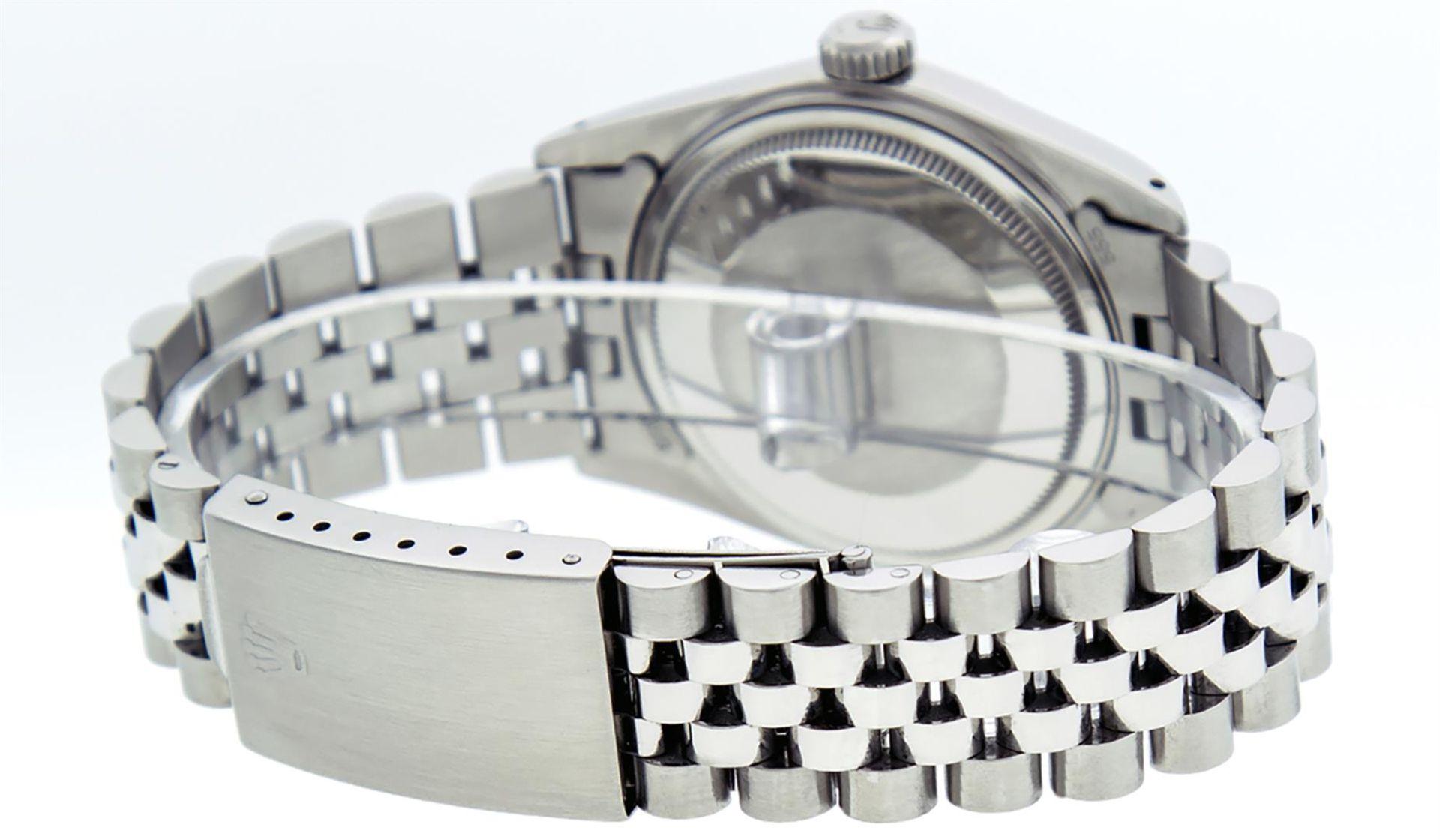 Rolex Mens Stainless Steel Ice Blue Diamond Datejust Wristwatch - Image 6 of 9