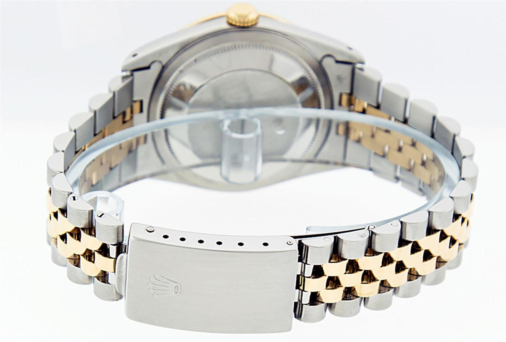 Rolex Mens 2 Tone Blue Vignette Diamond & Sapphire Datejust Wristwatch - Image 8 of 9