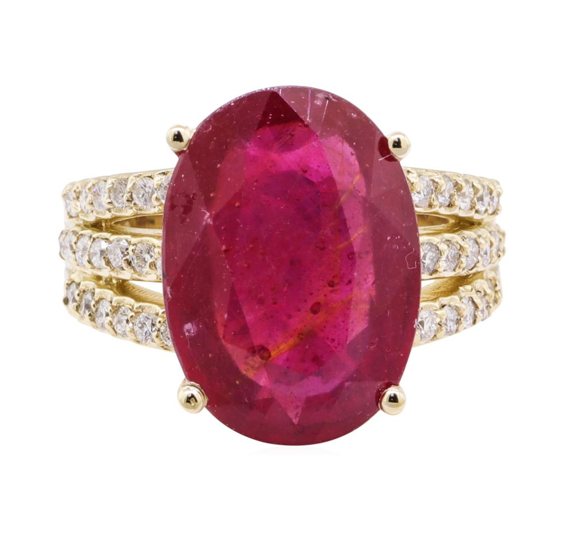 11.80 ctw Ruby And Diamond Ring - 14KT Yellow Gold - Image 2 of 5