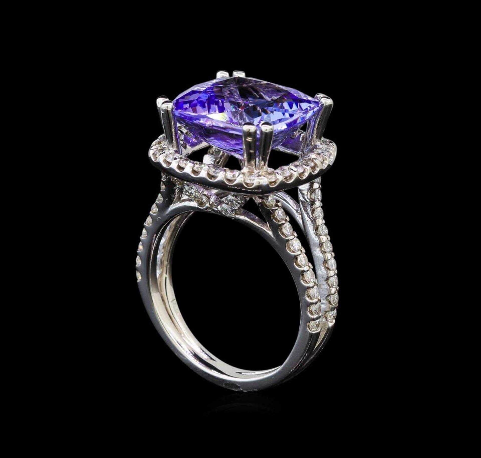 14KT White Gold 9.07 ctw Tanzanite and Diamond Ring - Image 4 of 5