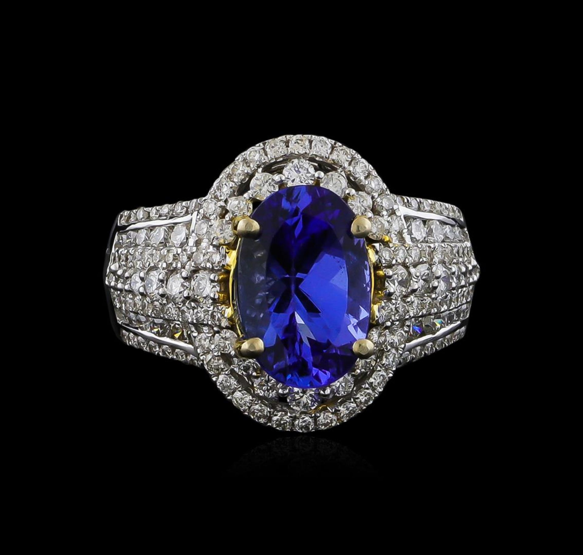 14KT Two-Tone Gold 4.12 ctw Tanzanite and Diamond Ring - Image 2 of 5