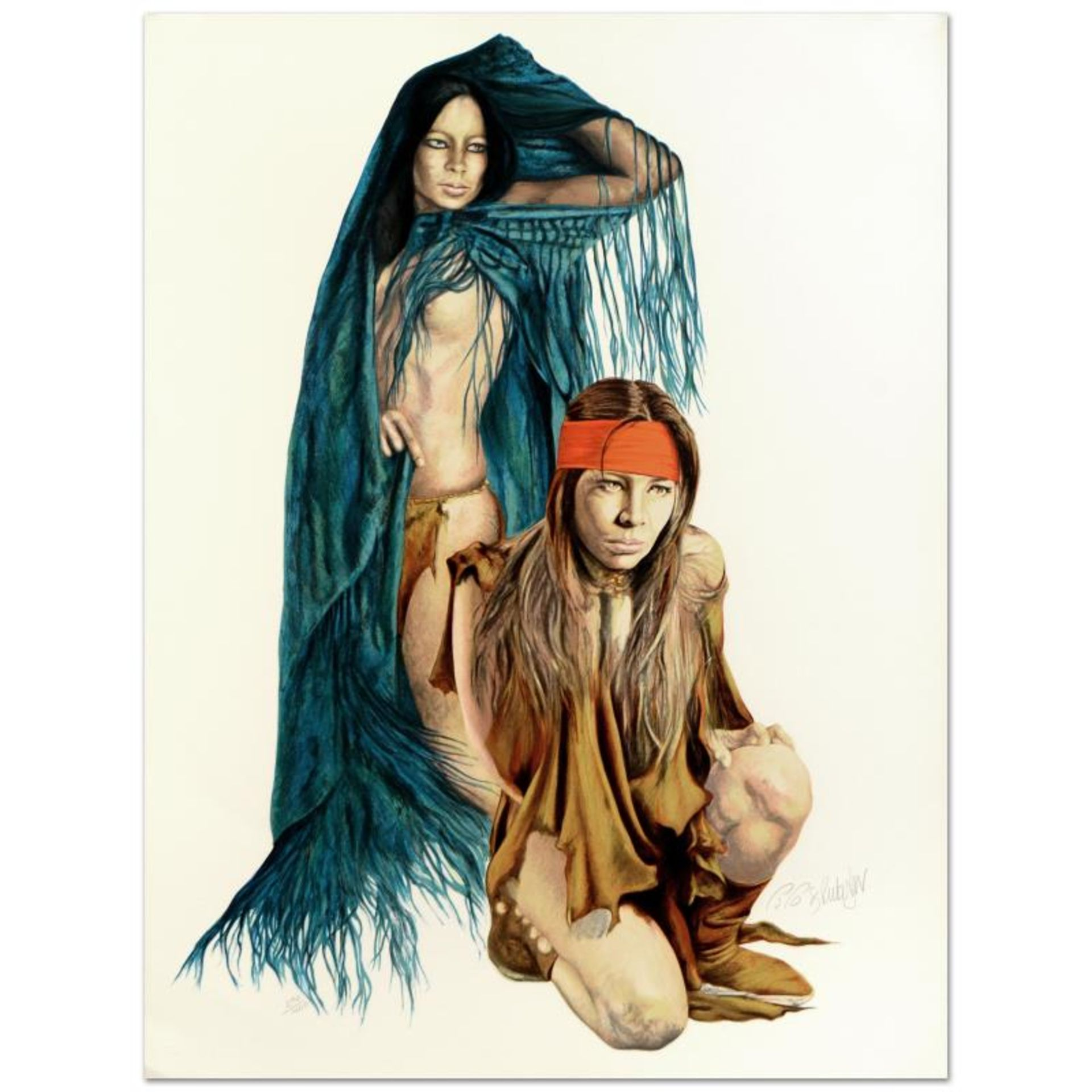 Popo & Ruby Lee, Limited Edition Serigraph, Numbered and Hand Signed by the Arti