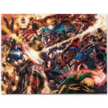 """Marvel Comics """"New Avengers #50"""" Numbered Limited Edition Giclee on Canvas by Bi"""