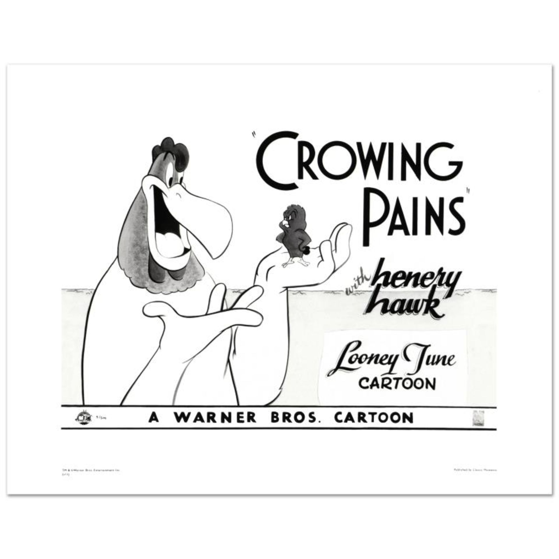 """Crowing Pains #2 (with Foghorn)"" Limited Edition Giclee from Warner Bros., Numb"