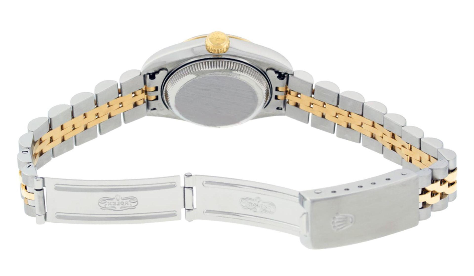 Rolex Ladies 2 Tone 18K Champagne String Diamond Lugs Datejust Wristwatch - Image 6 of 7