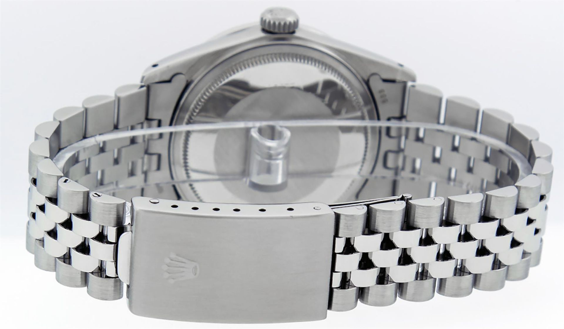 Rolex Mens Stainless Steel Mother Of Pearl Diamond Lugs 36MM Datejust Wristwatch - Image 4 of 8