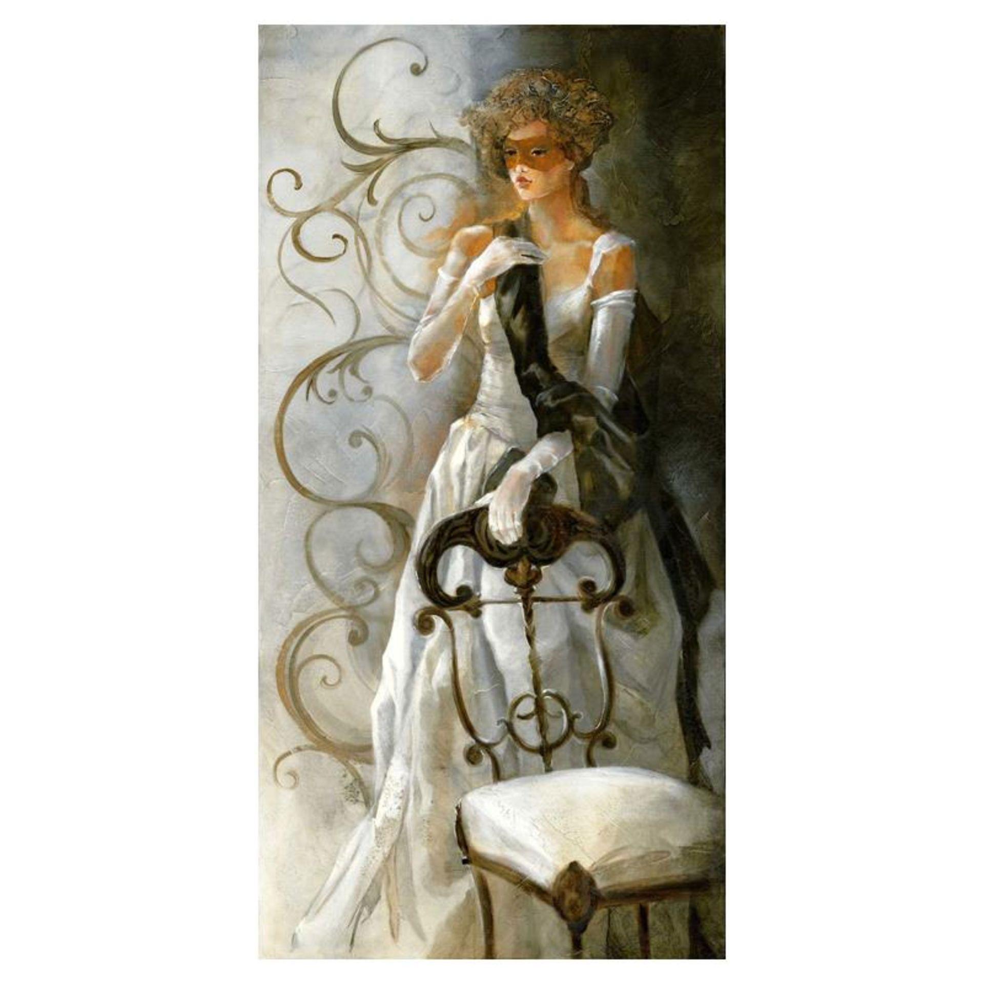 """Lena Sotskova, """"Debutant"""" Hand Signed, Artist Embellished Limited Edition Giclee"""
