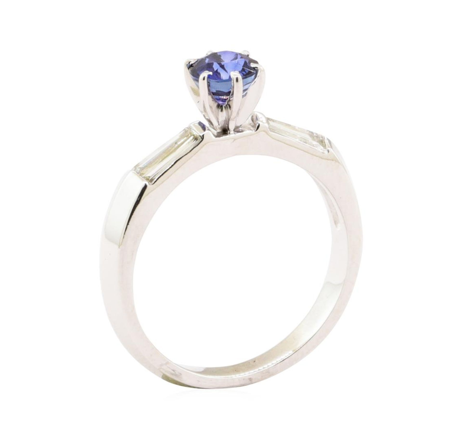 1.15 ctw Blue Sapphire And Diamond Ring - 18KT White Gold - Image 4 of 5